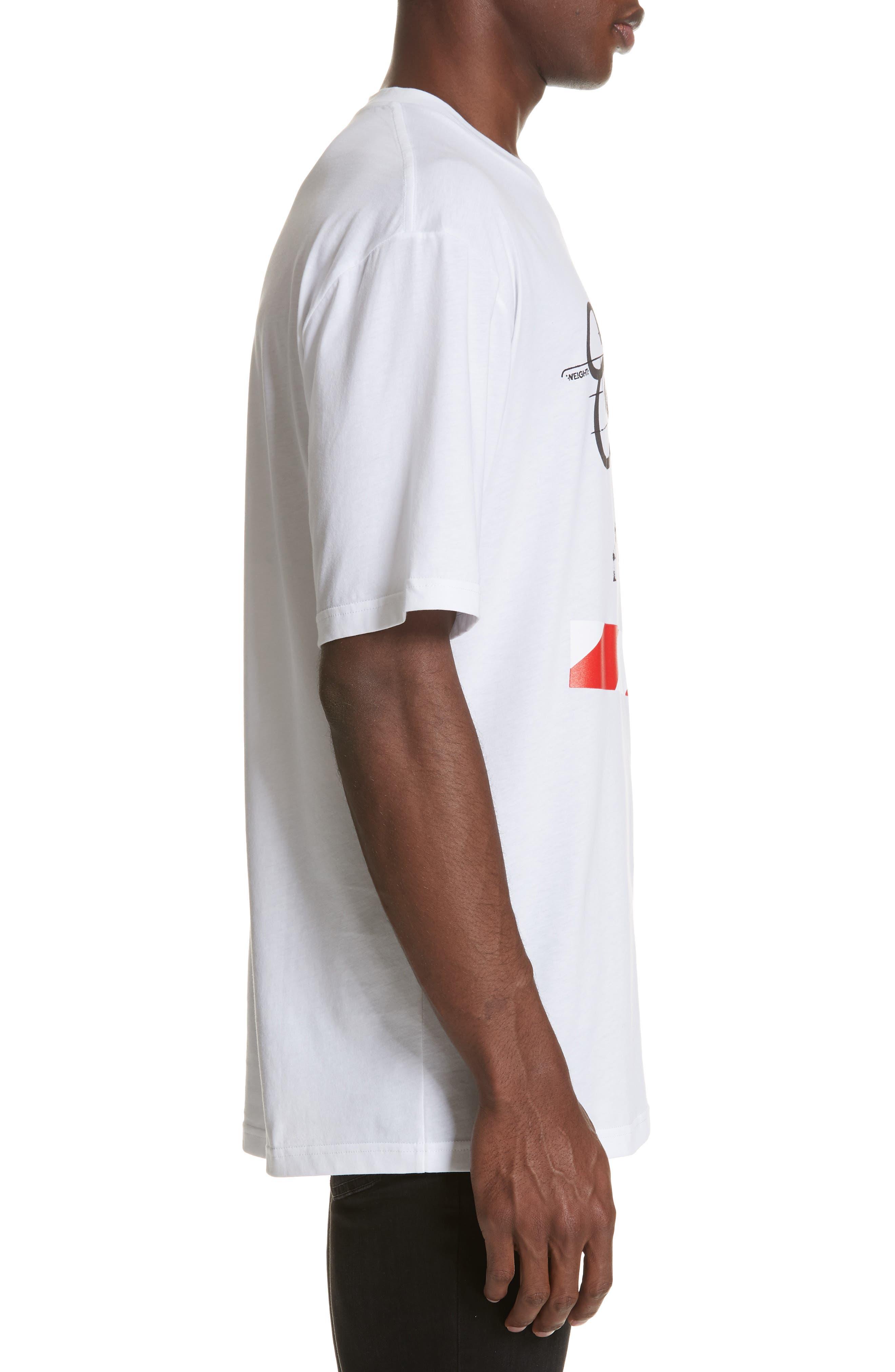 Cordan Graphic T-Shirt,                             Alternate thumbnail 3, color,                             WHITE