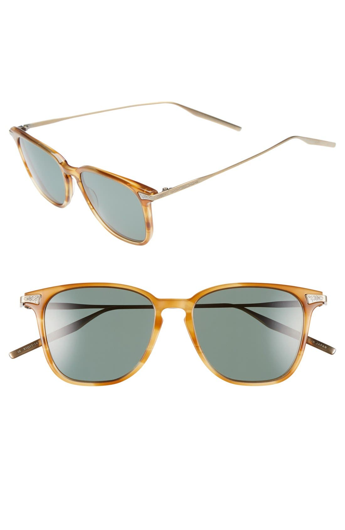 SALT.,                             Ridgeway 51mm Polarized Sunglasses,                             Main thumbnail 1, color,                             SIENNA/ GREY