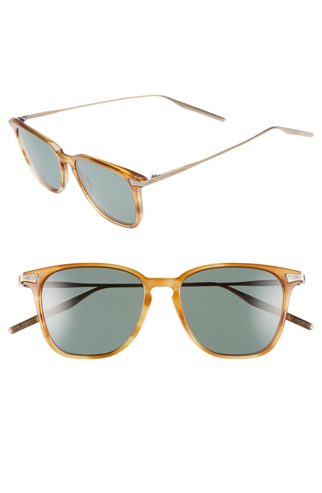 SALT. Ridgeway 51mm Polarized Sunglasses, Main, color, SIENNA/ GREY