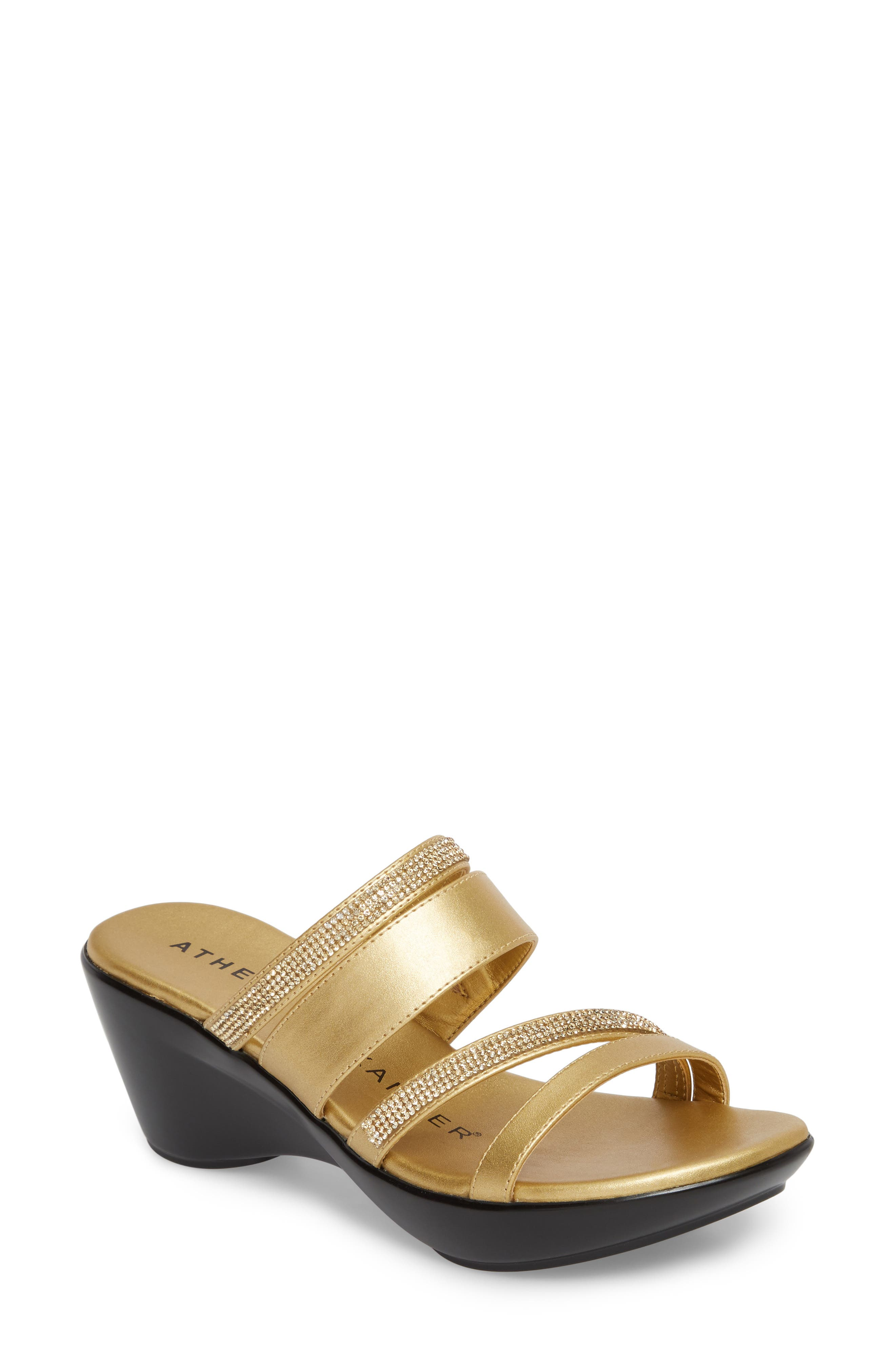 Athena Alexander Kozima Embellished Sandal- Metallic
