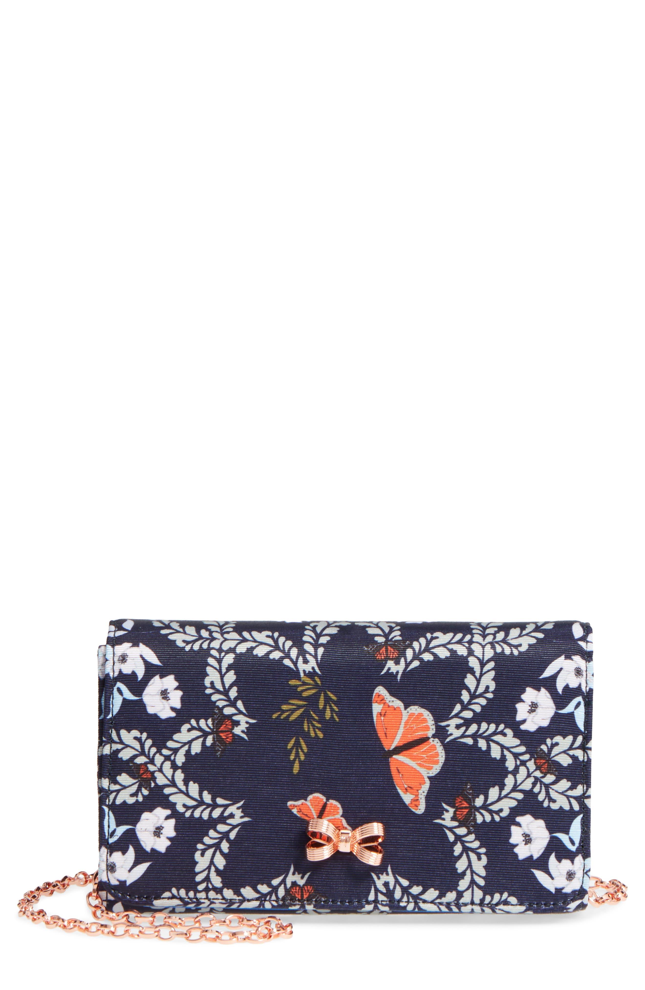 Kailyn - Kyoto Gardens Grosgrain Clutch,                             Main thumbnail 1, color,