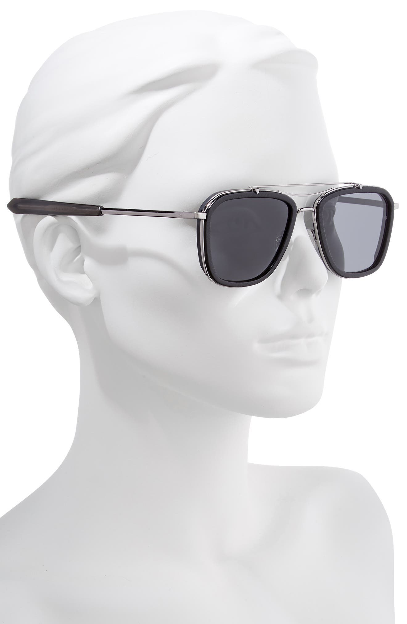 Phantom 54mm Aviator Sunglasses,                             Alternate thumbnail 2, color,                             RUTHENIUM/ BLACK