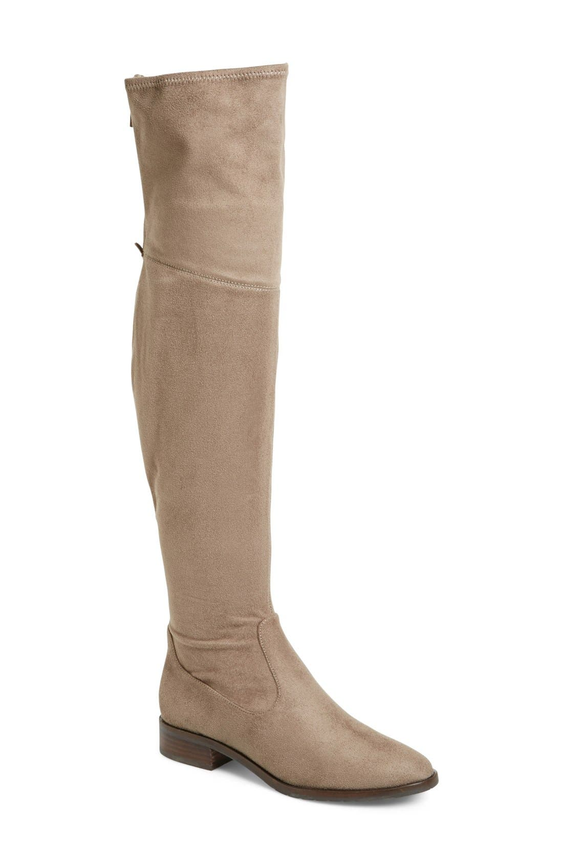 'Livi' Faux Suede Over the Knee Boot,                             Main thumbnail 1, color,                             250
