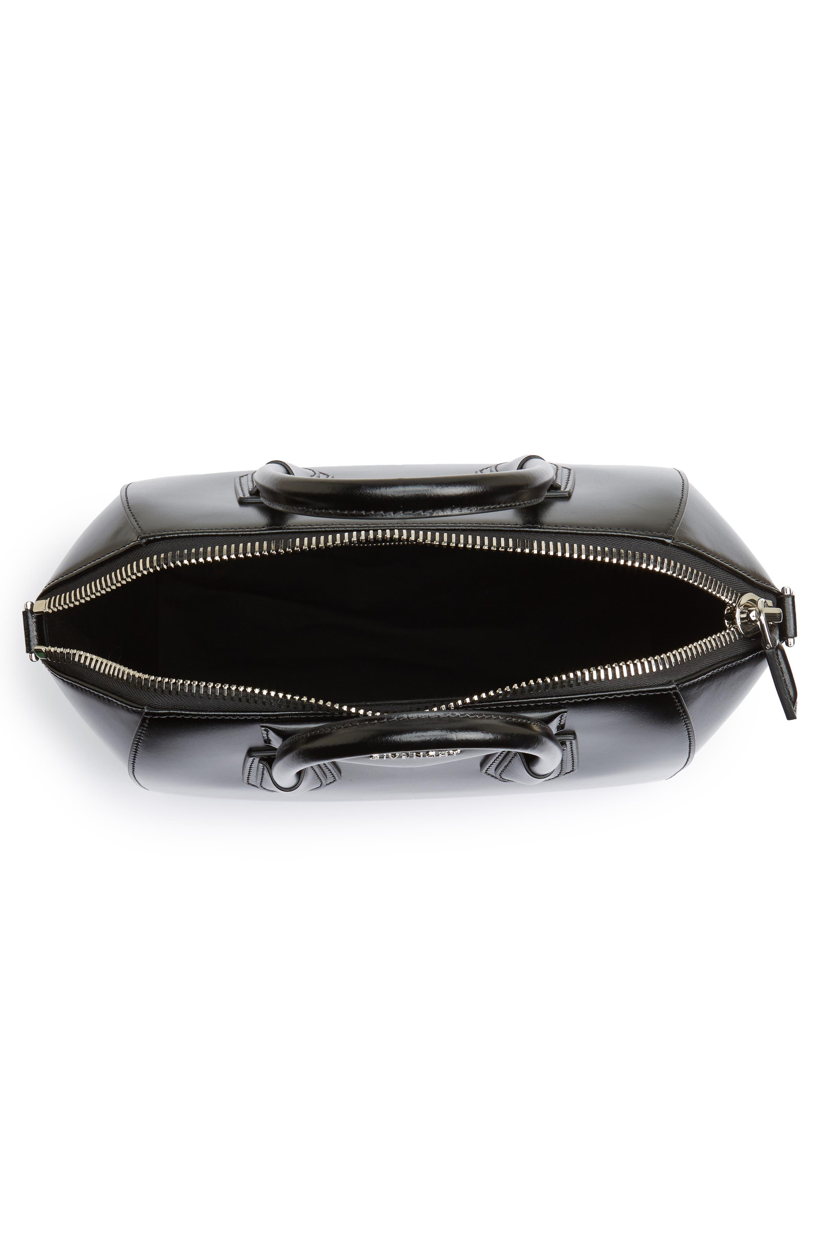 Medium Antigona Box Leather Satchel,                             Alternate thumbnail 4, color,                             001