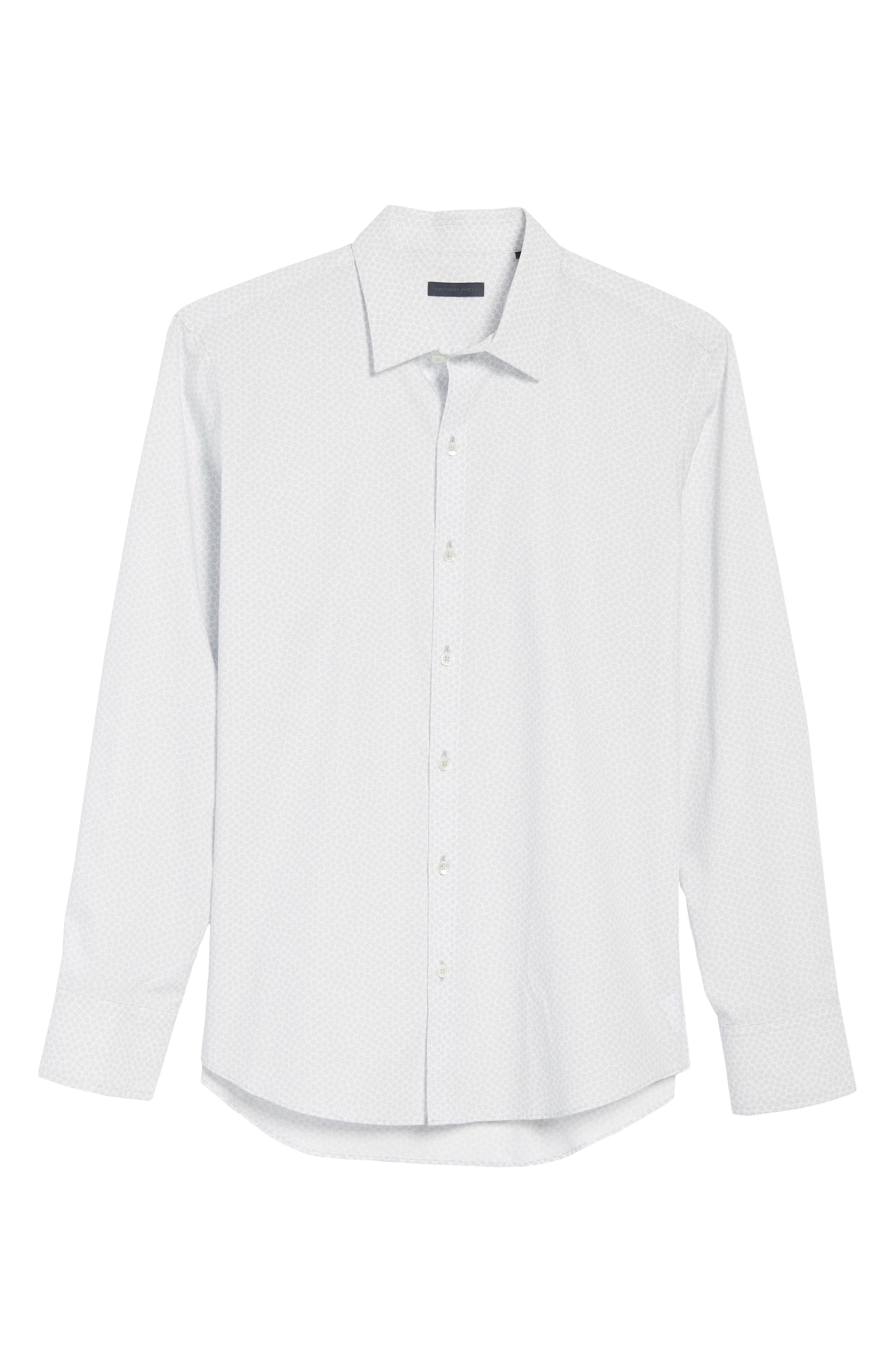 Owens Slim Fit Print Sport Shirt,                             Alternate thumbnail 6, color,                             100