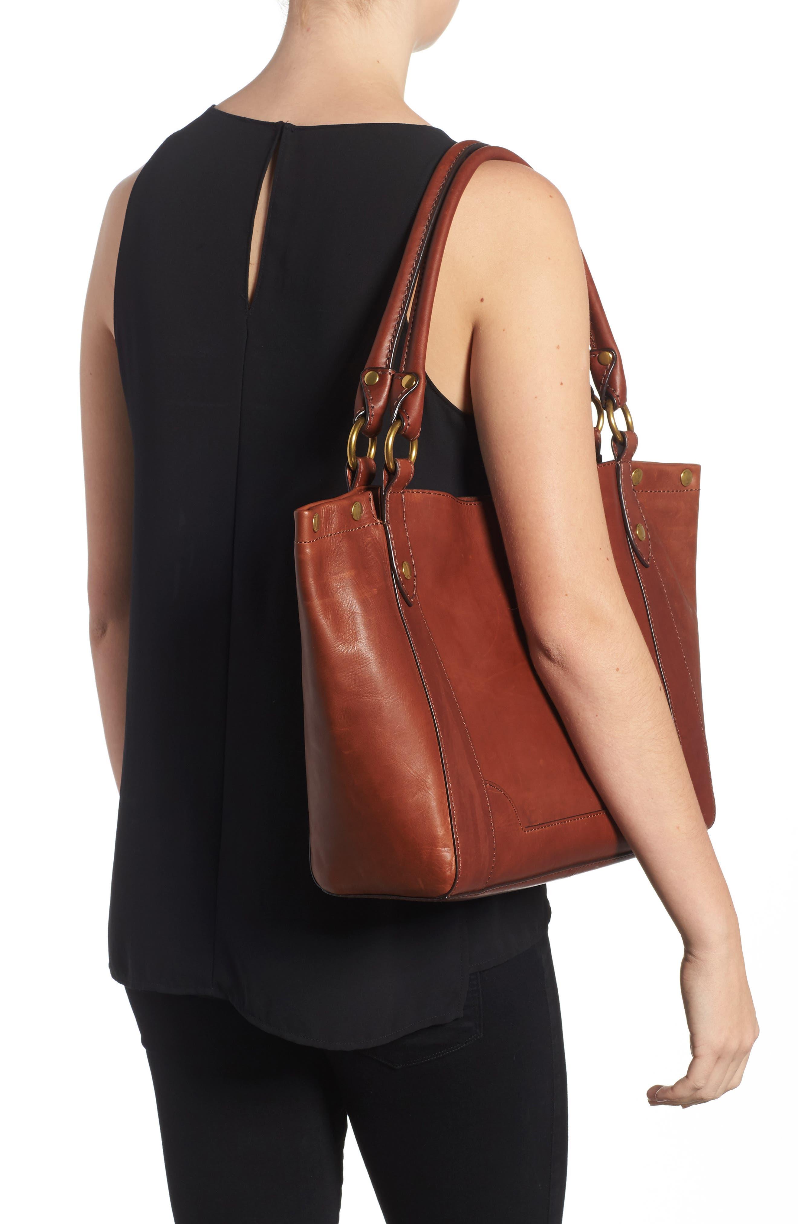 Melissa Leather Shoulder Bag,                             Alternate thumbnail 5, color,