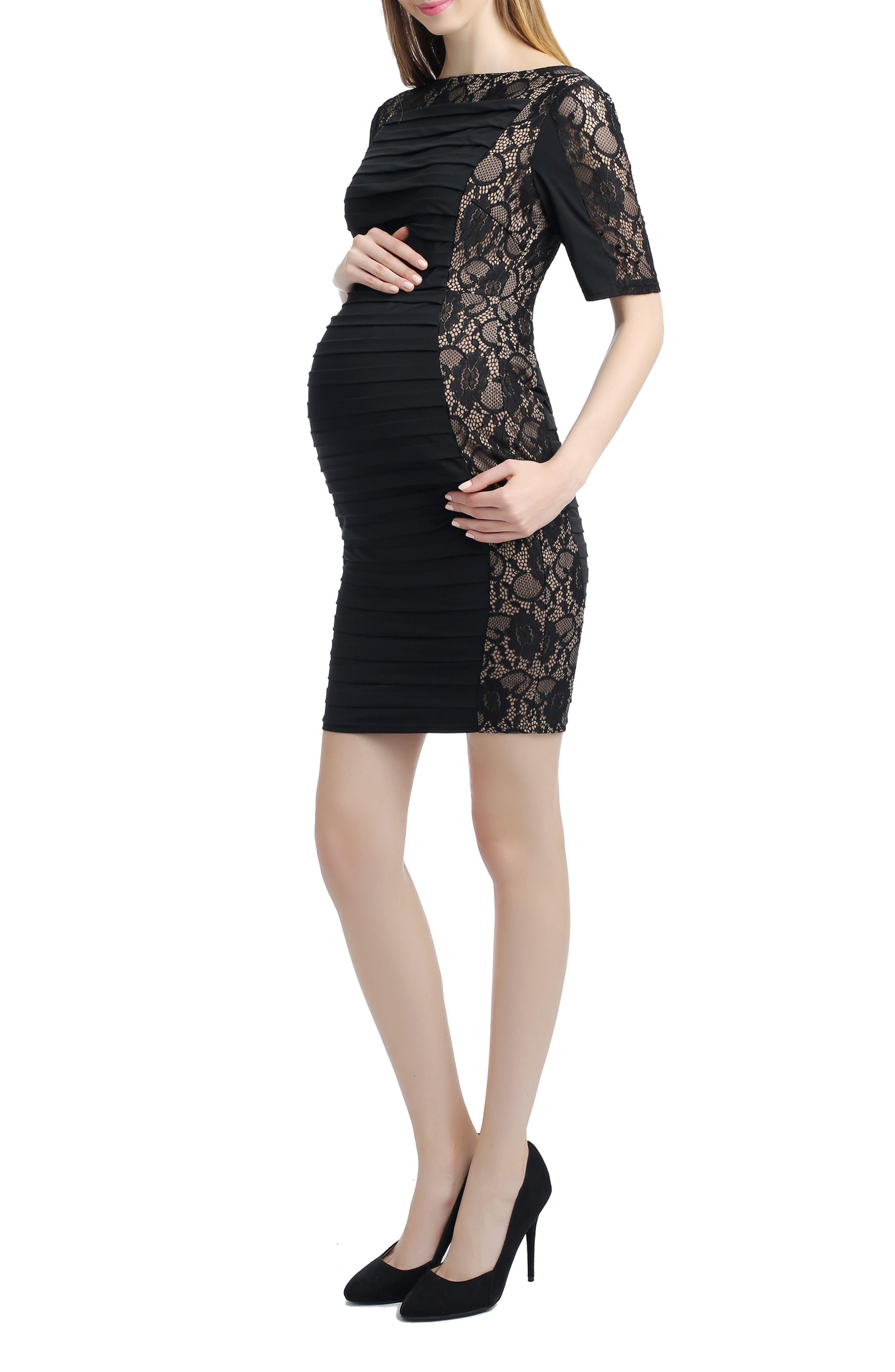 Estelle Lace Maternity Dress,                             Alternate thumbnail 4, color,