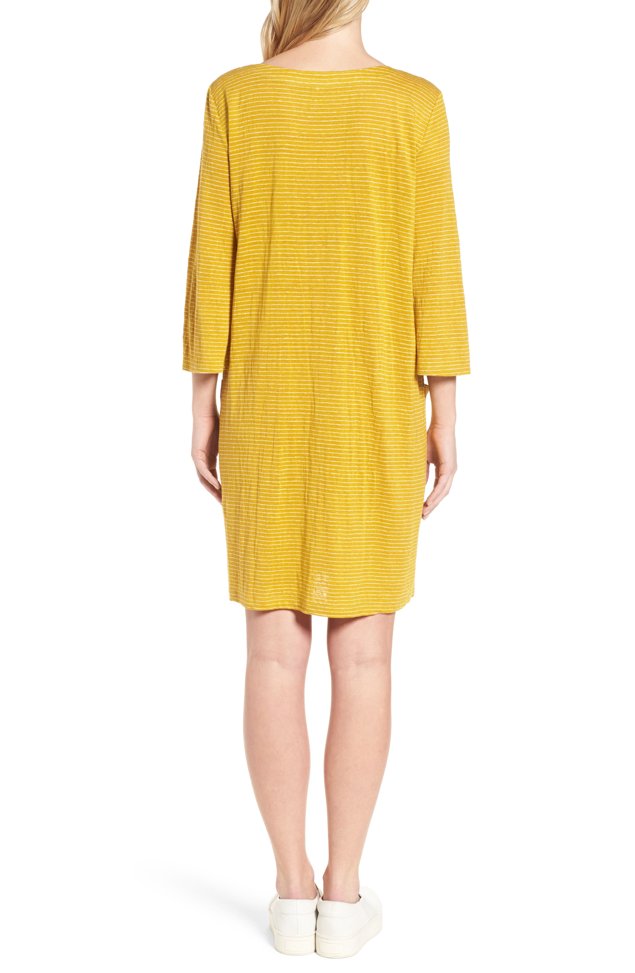 Organic Linen Shift Dress,                             Alternate thumbnail 6, color,