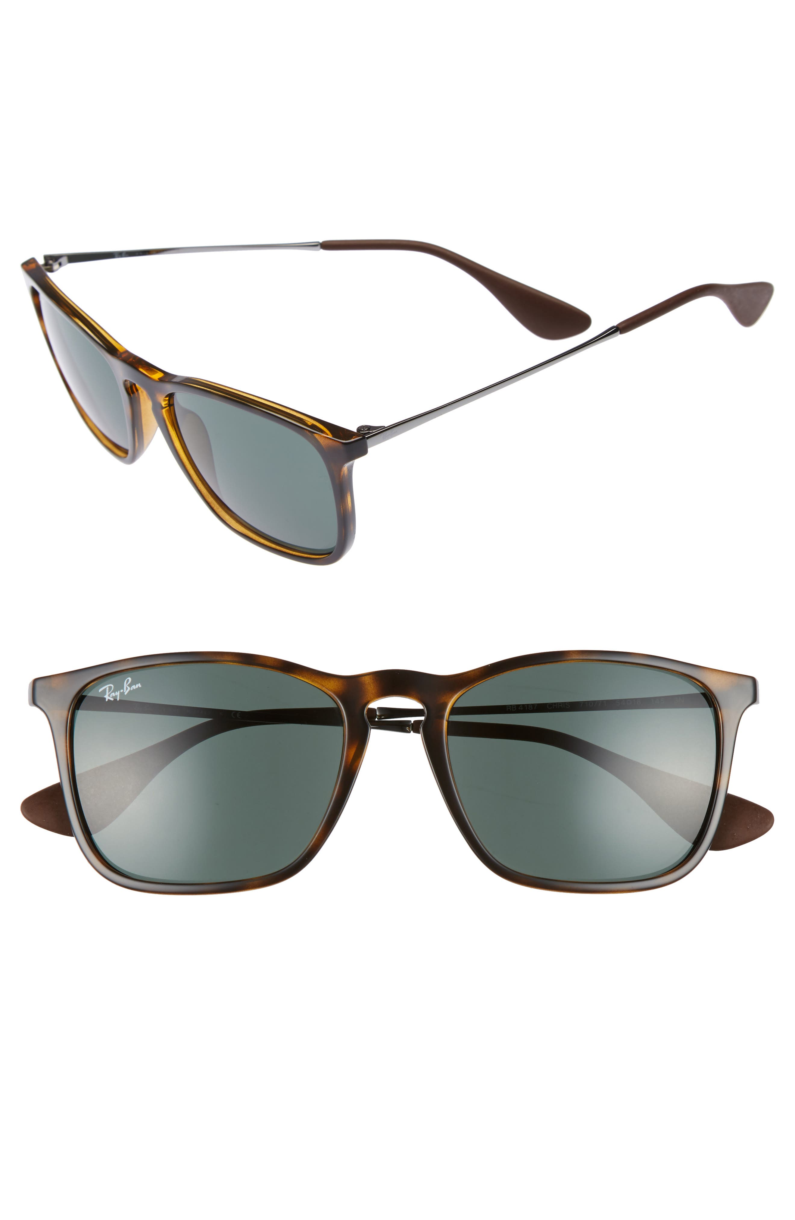 54mm Sunglasses,                         Main,                         color, LIGHT HAVANA