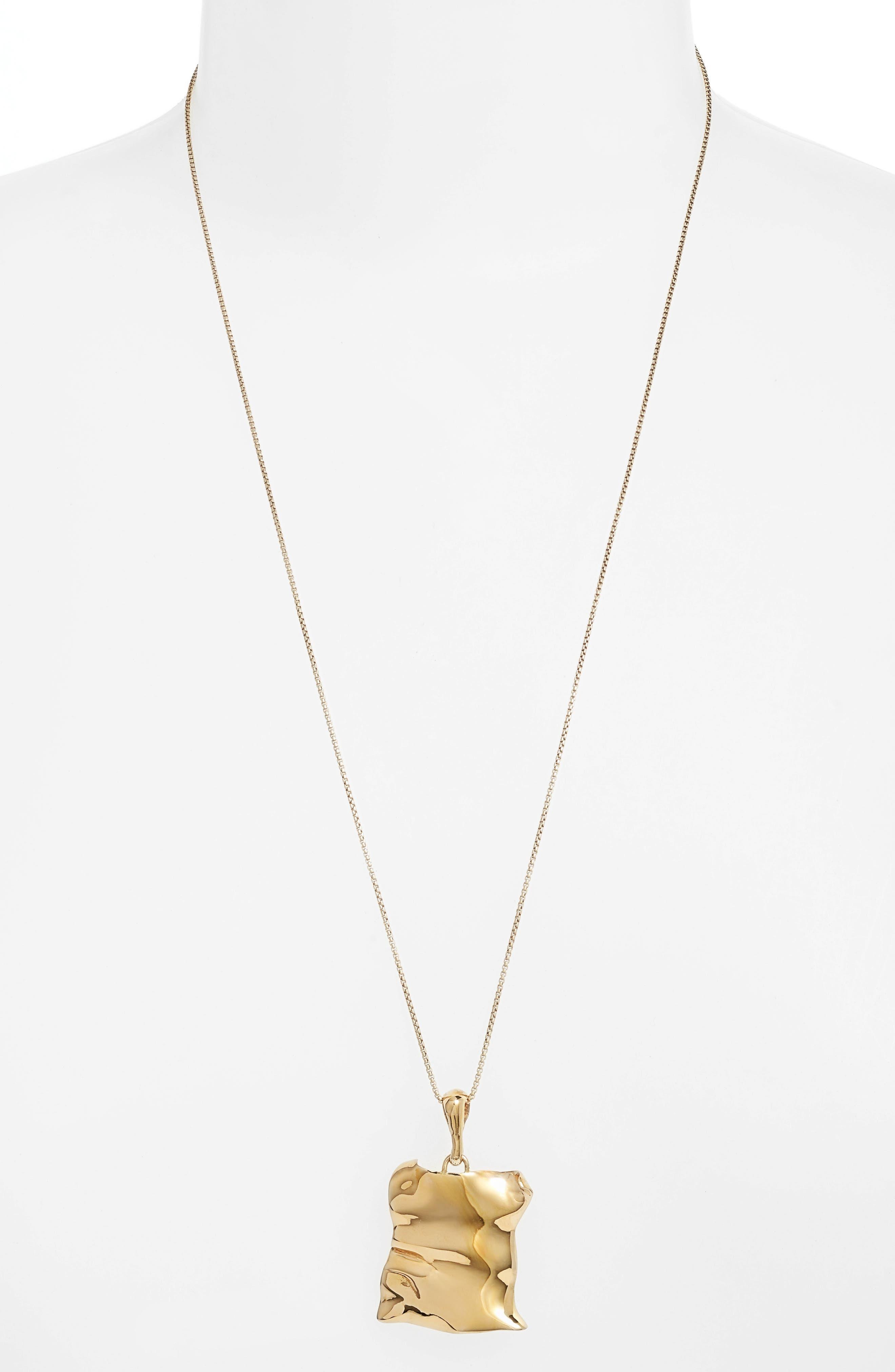 FARIS Tag Pendant Necklace in Bronze