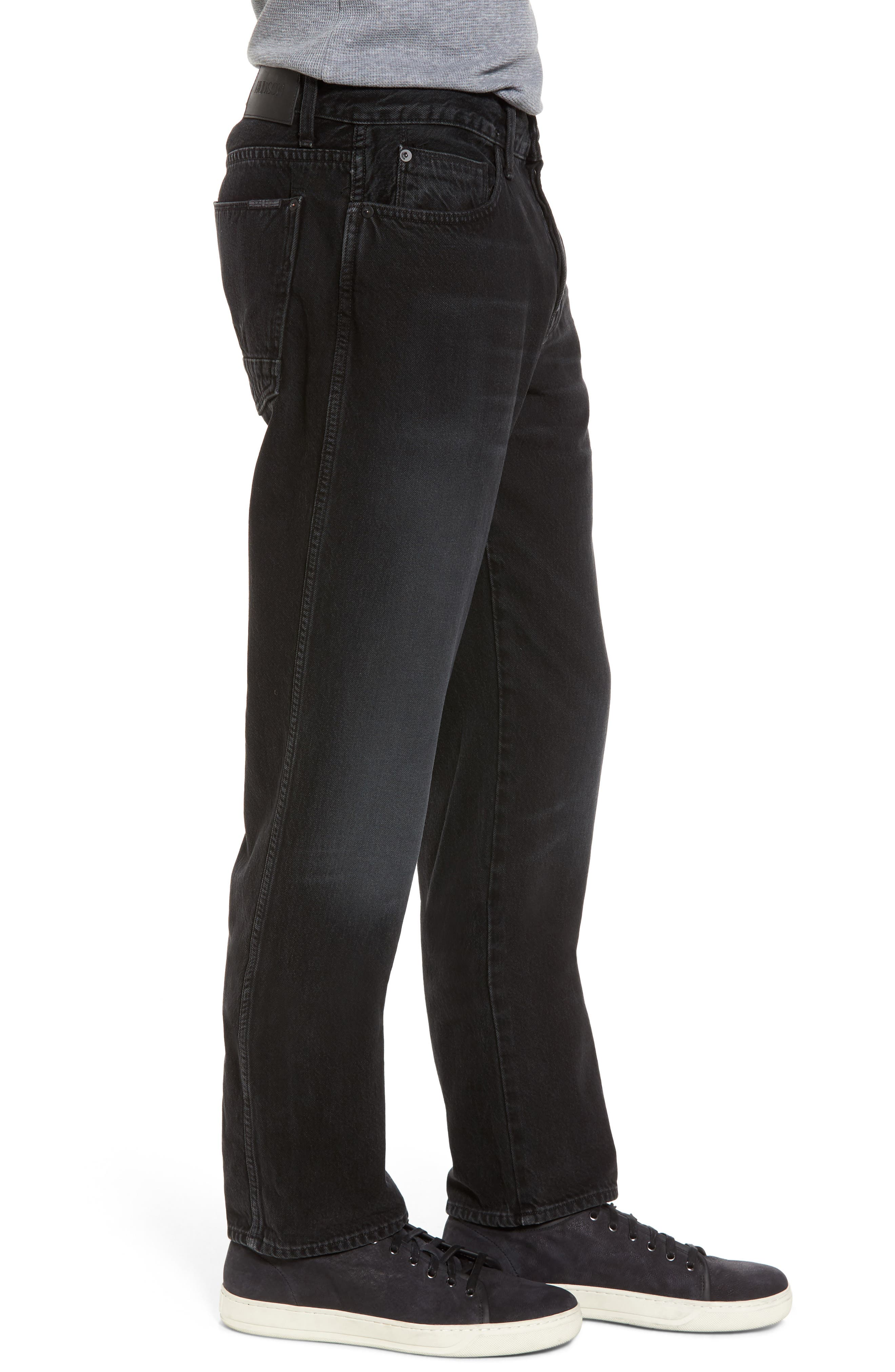 Dixon Straight Fit Jeans,                             Alternate thumbnail 3, color,                             001