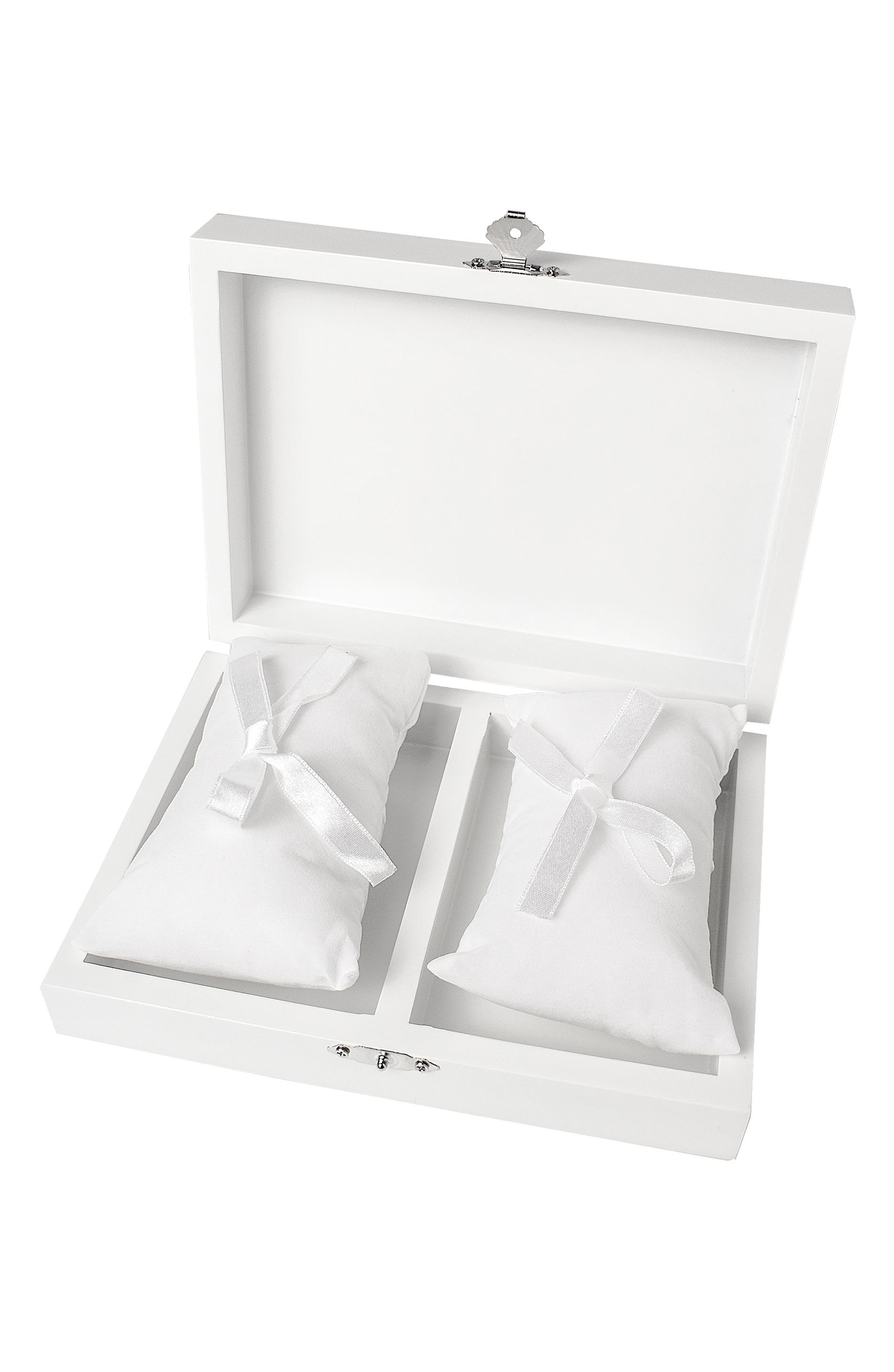 Monogram Floral Wedding Ring Box,                             Alternate thumbnail 28, color,