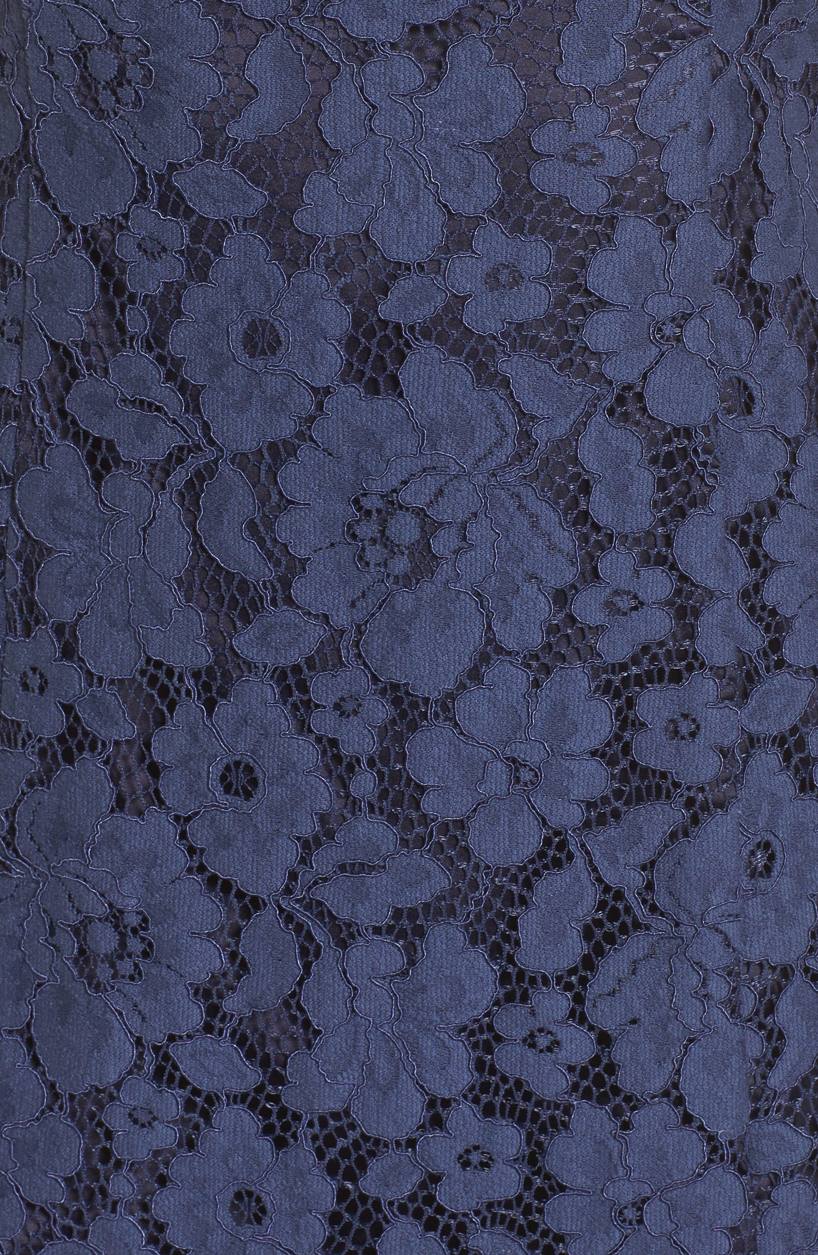 Ruffle Lace Sheath Dress,                             Alternate thumbnail 5, color,                             410