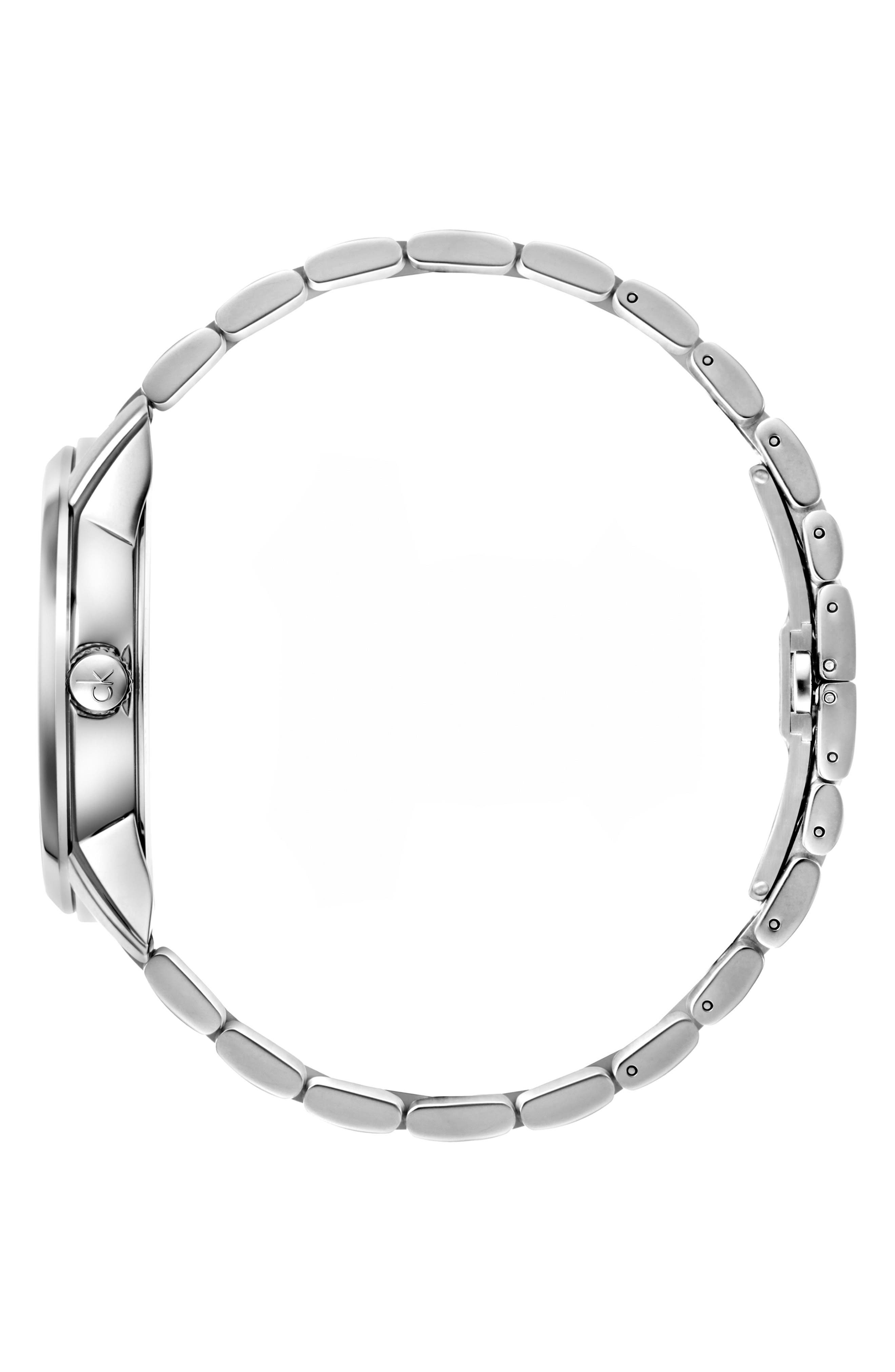 Infinite Too Automatic Bracelet Watch, 42mm,                             Alternate thumbnail 3, color,                             SILVER