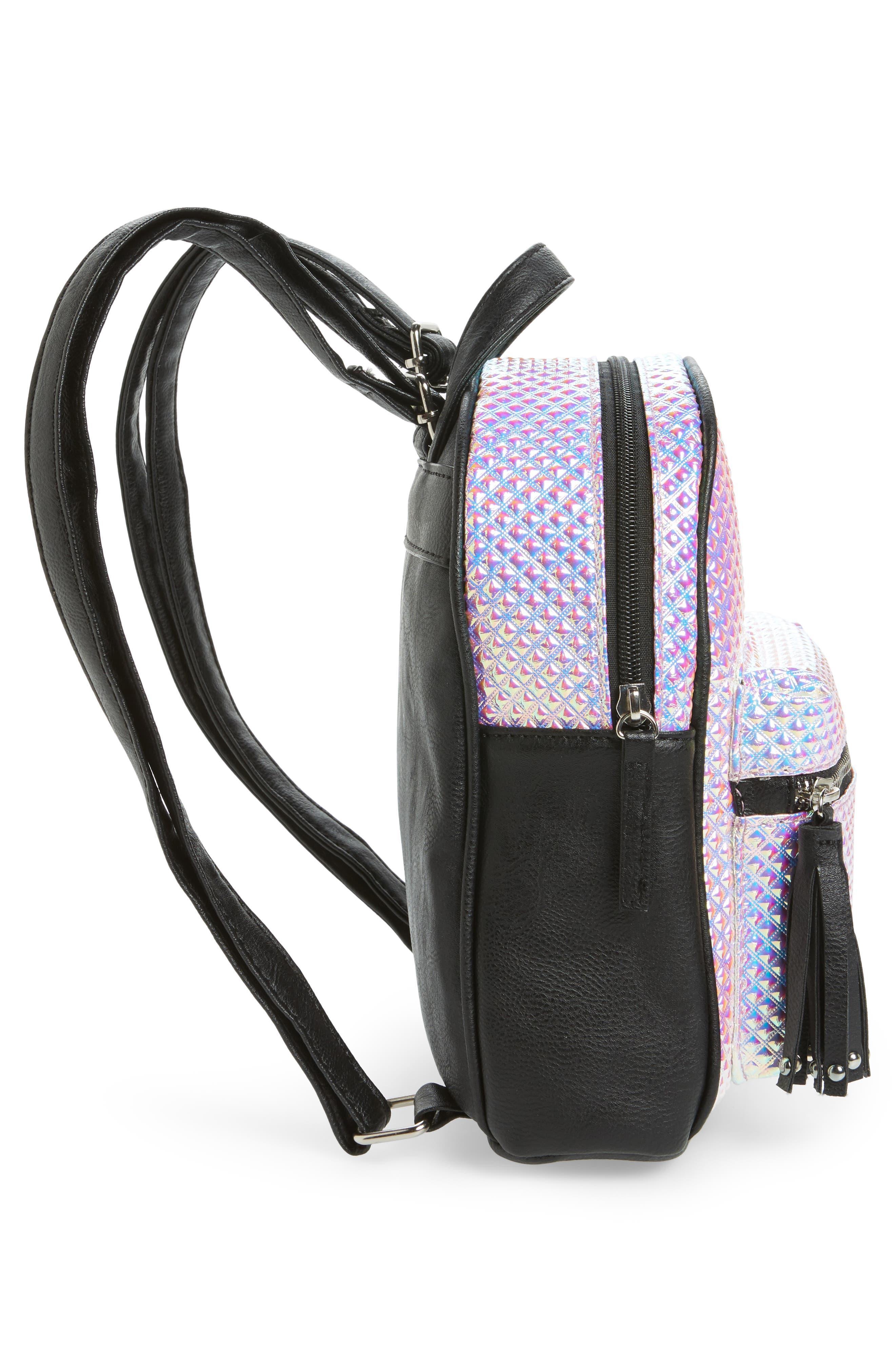 Hologram Mini Backpack,                             Alternate thumbnail 4, color,                             100