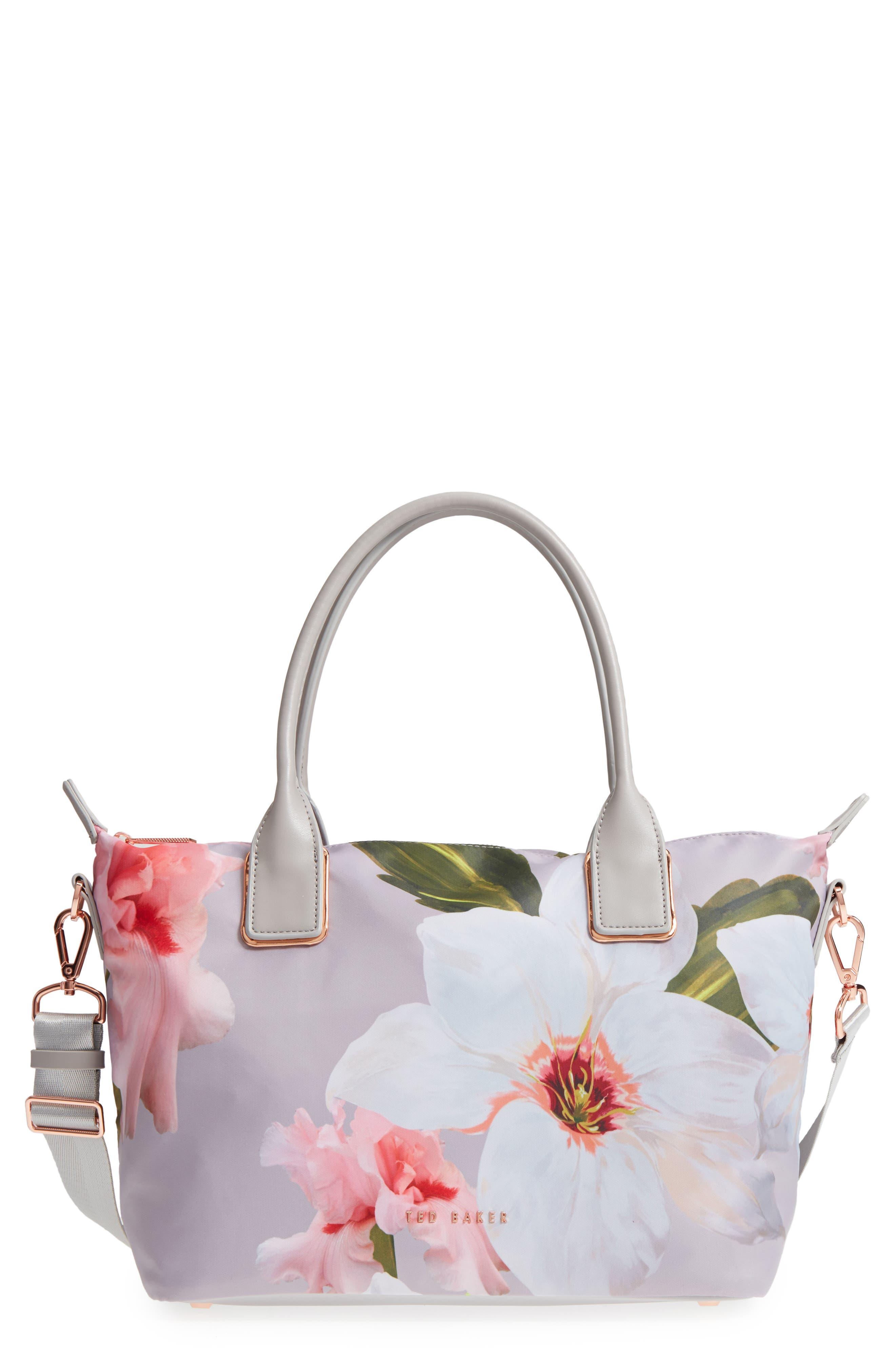 Small Orsja Chatsworth Bloom Nylon Tote,                         Main,                         color, 020
