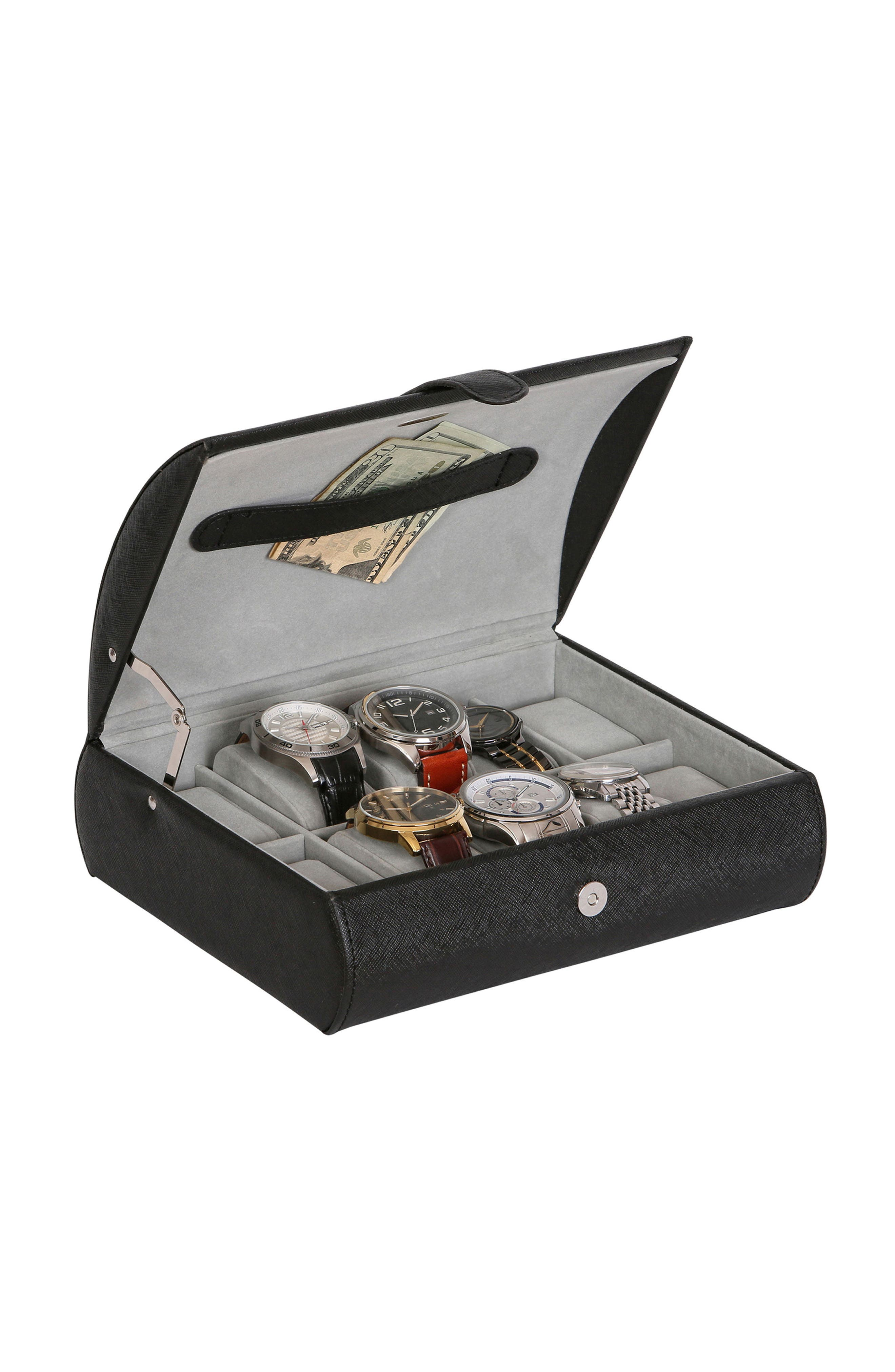 Parker Watch Box,                             Alternate thumbnail 2, color,                             BLACK