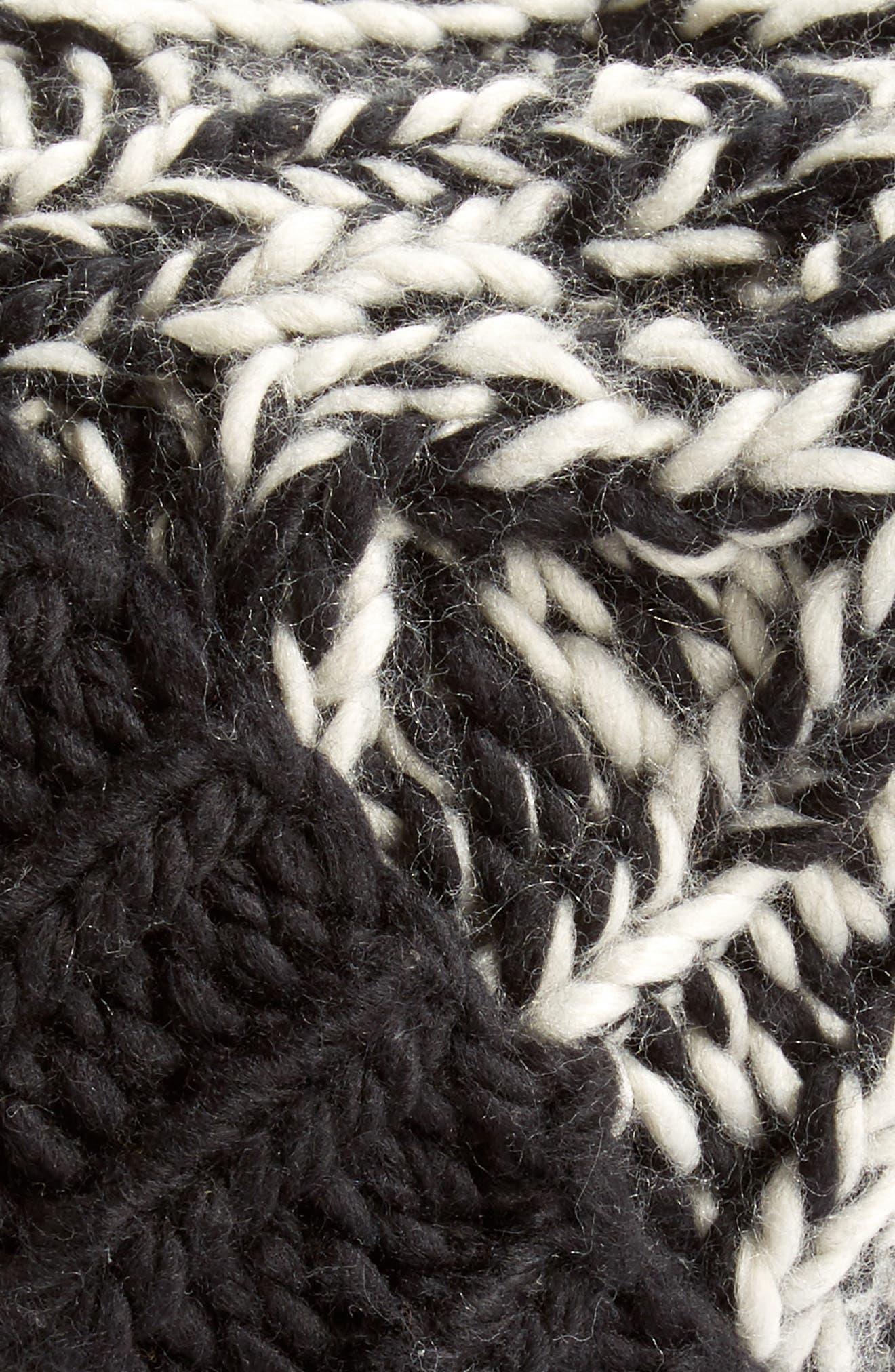 Treasure&Bond Stripe Knit Beanie,                             Alternate thumbnail 4, color,