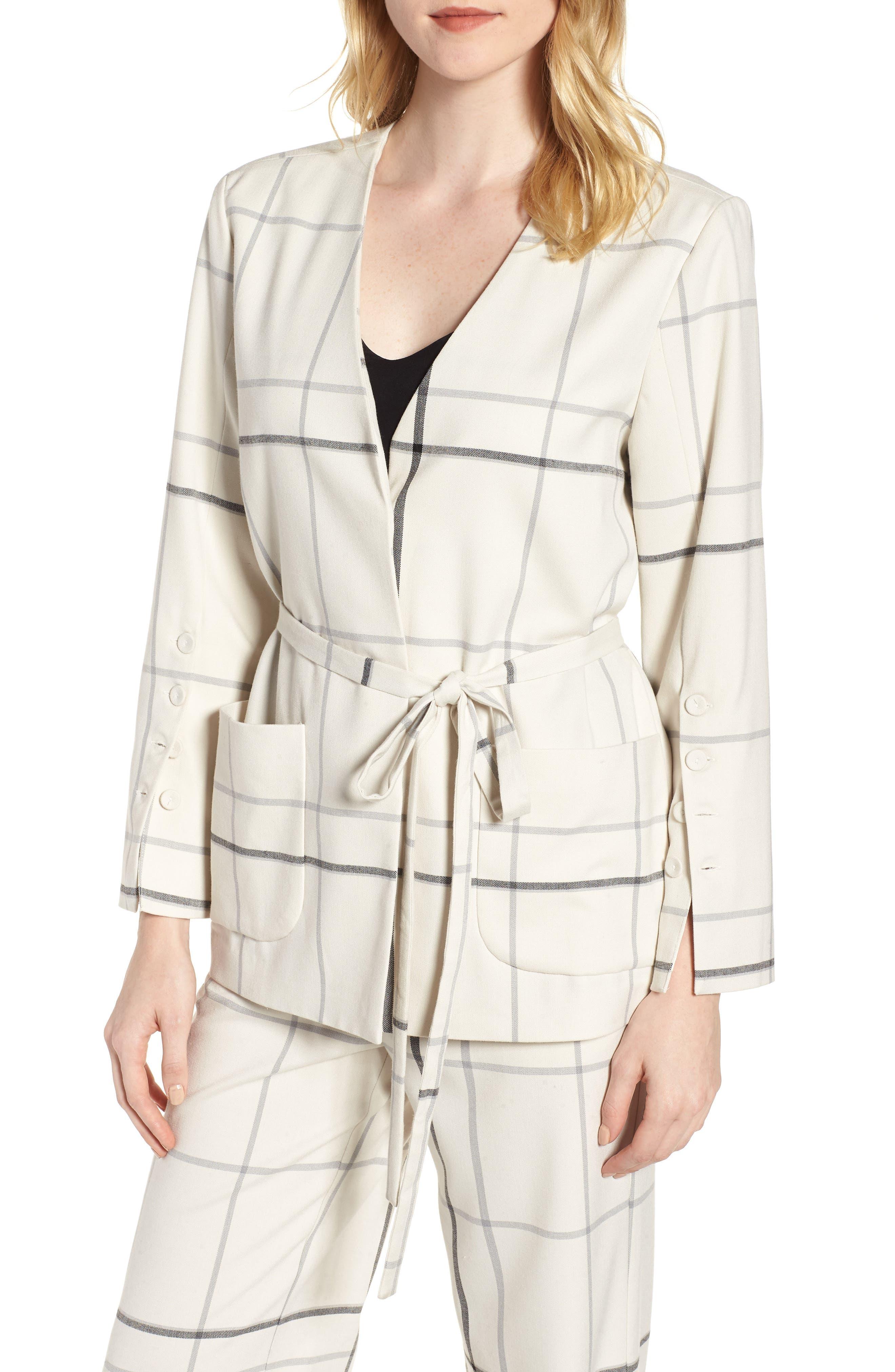 Tie Front Jacket,                         Main,                         color, 123
