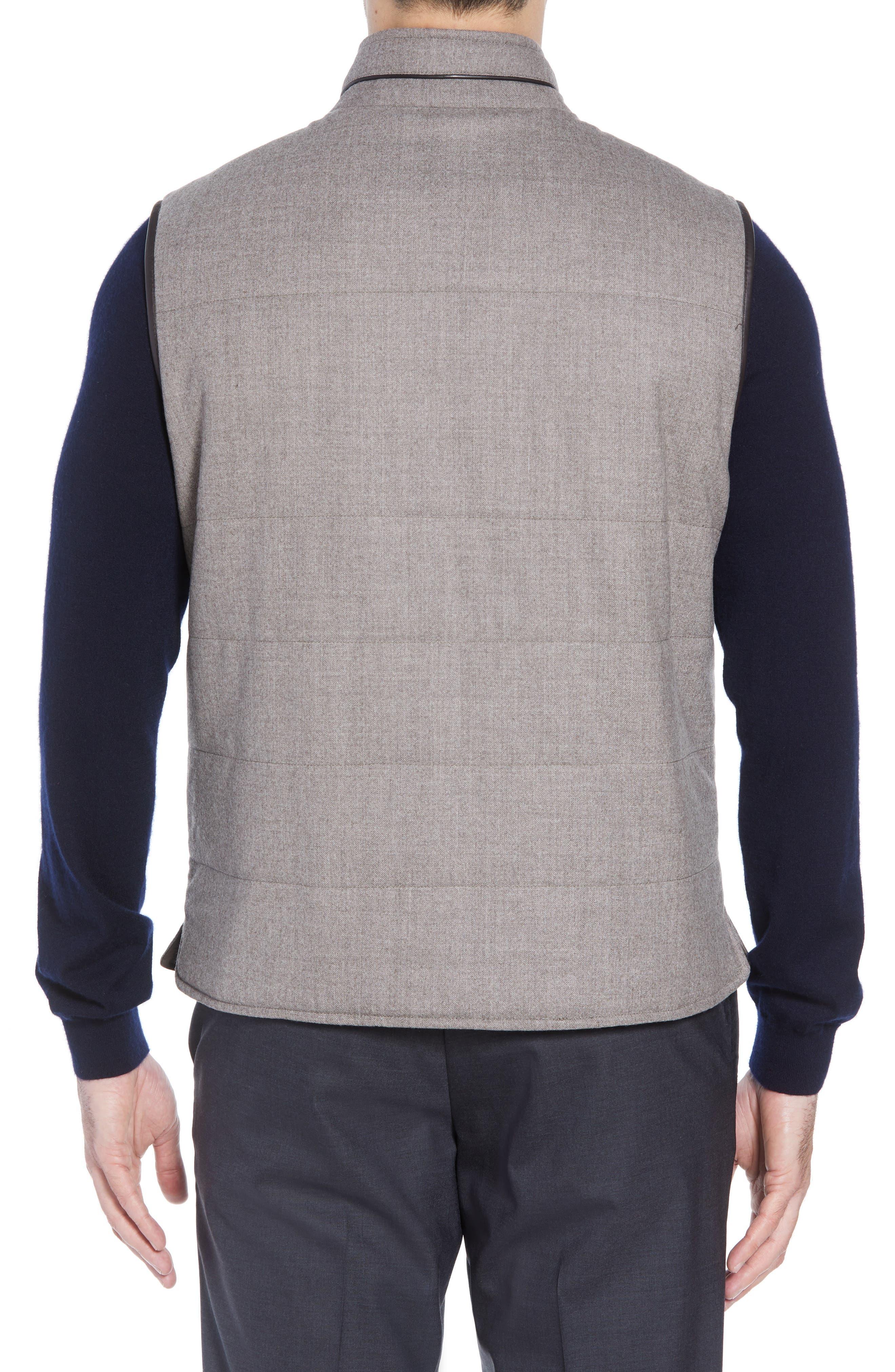 Classic Fit Reversible Vest,                             Alternate thumbnail 3, color,                             SAND