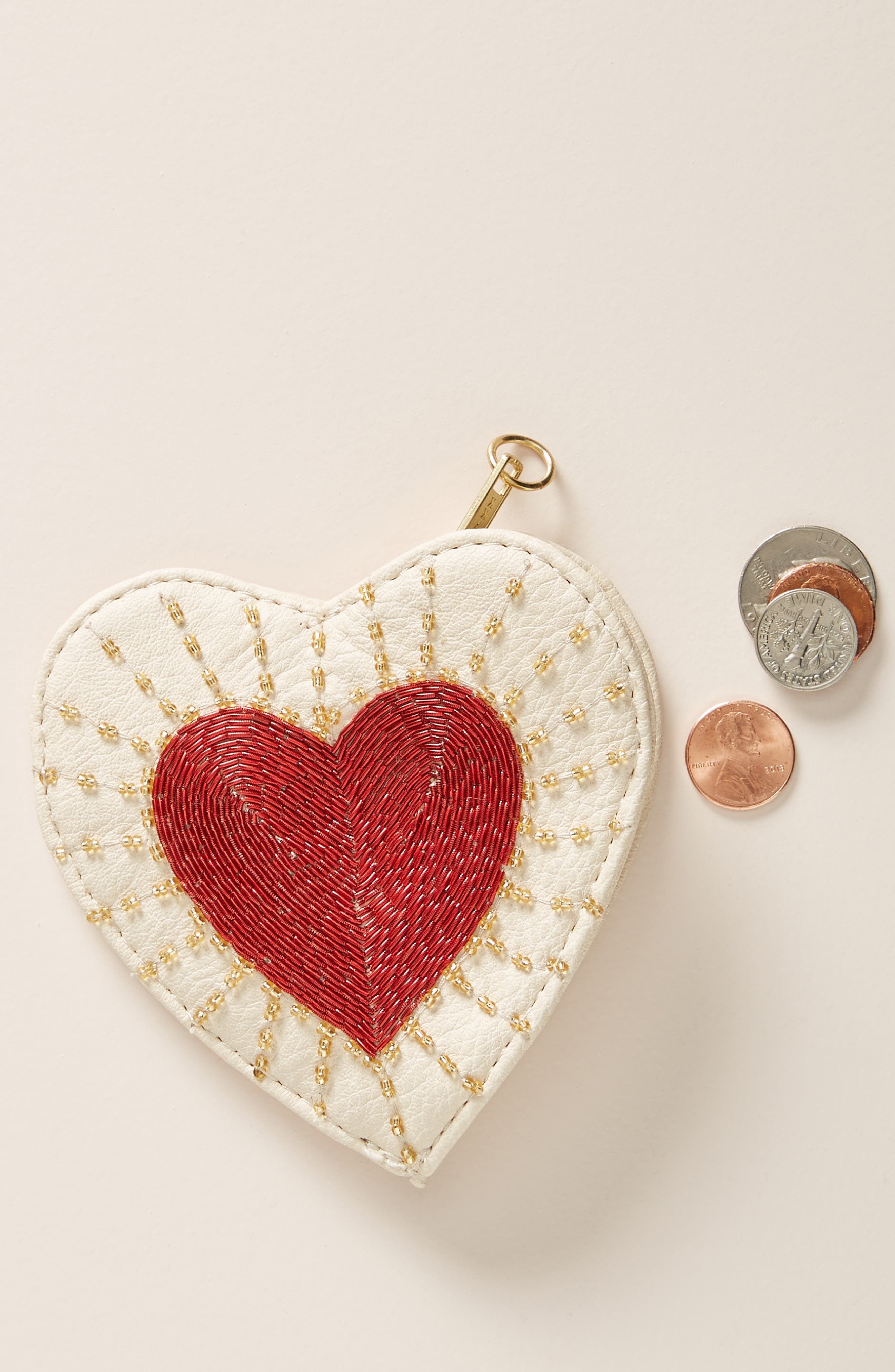 Embellished Heart Pouch, Main, color, 901
