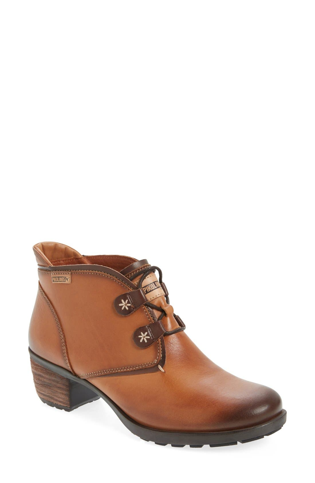 'Le Mans' Stack Heel Bootie,                             Main thumbnail 1, color,                             220