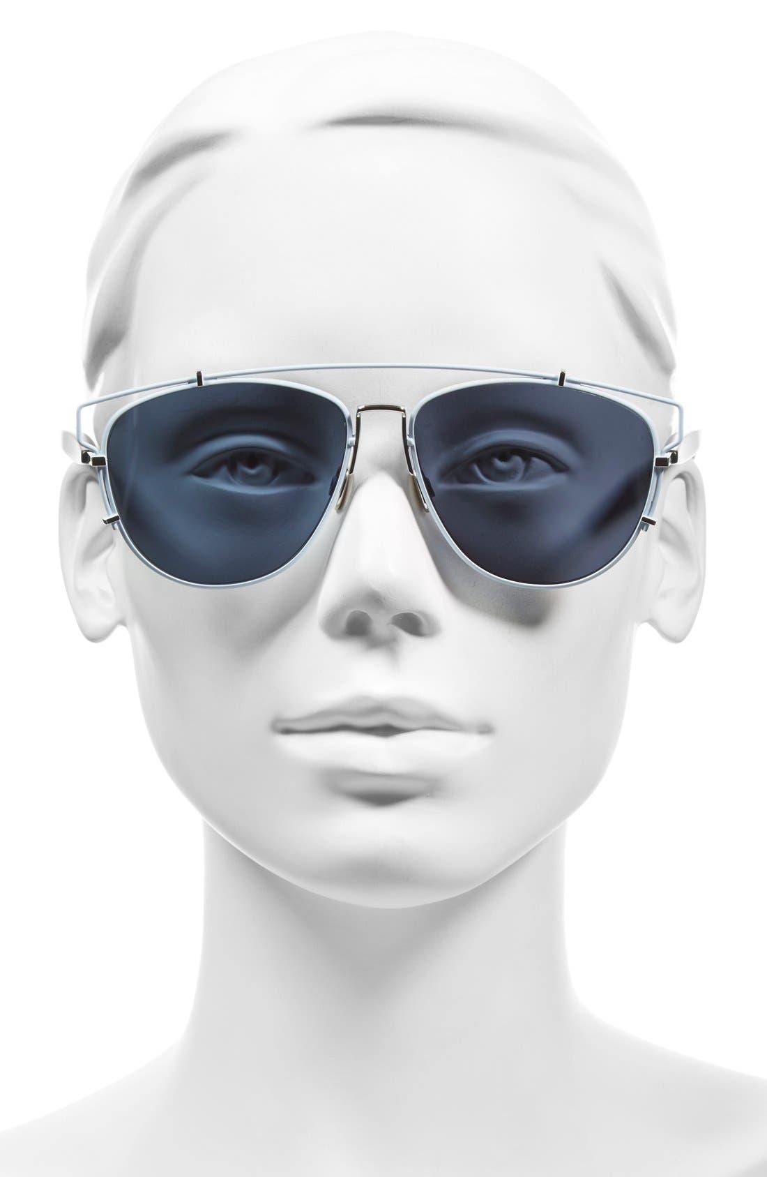 Technologic 57mm Brow Bar Sunglasses,                             Alternate thumbnail 23, color,