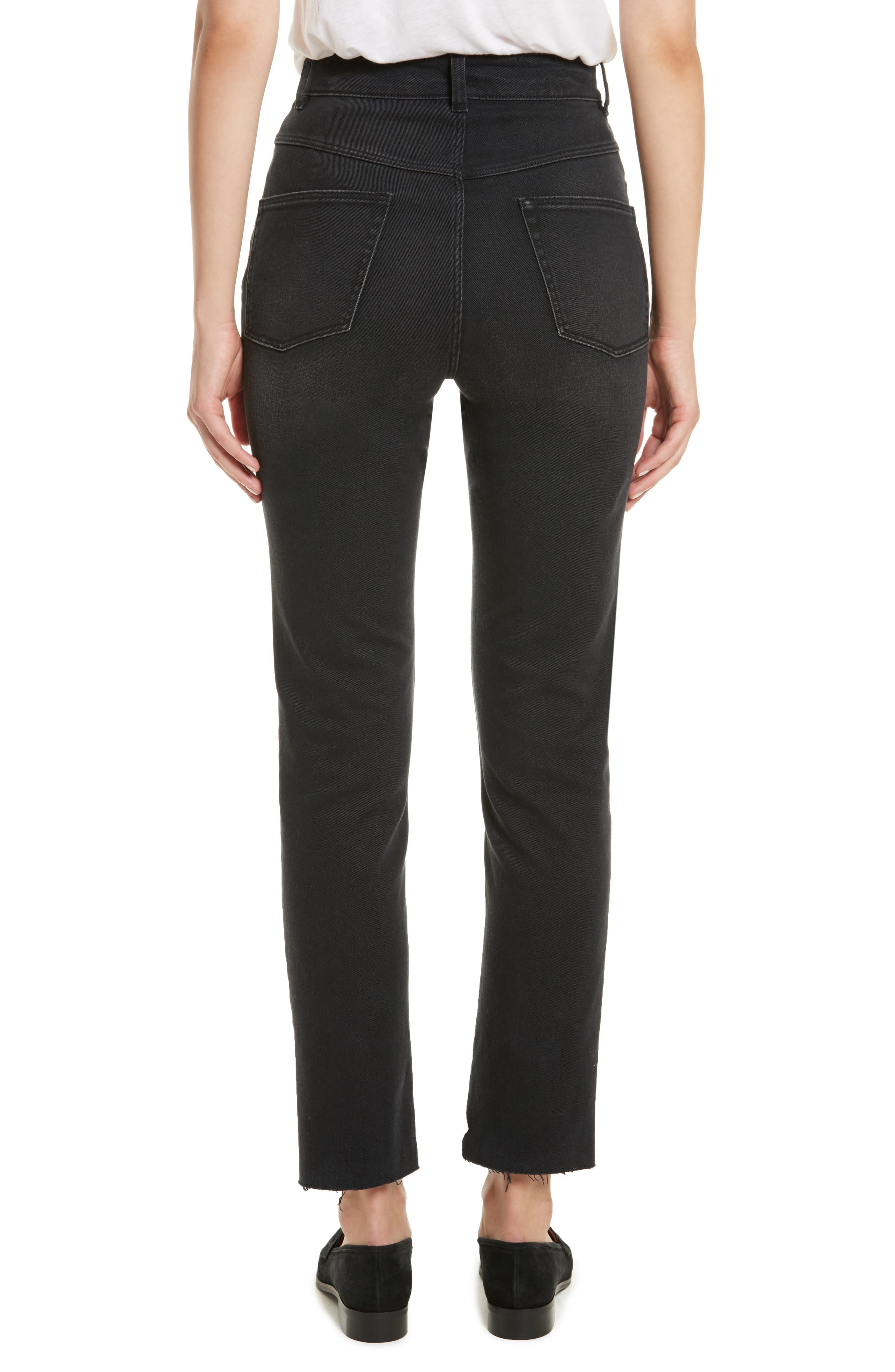 Ines Crop High Waist Skinny Jeans,                             Alternate thumbnail 2, color,