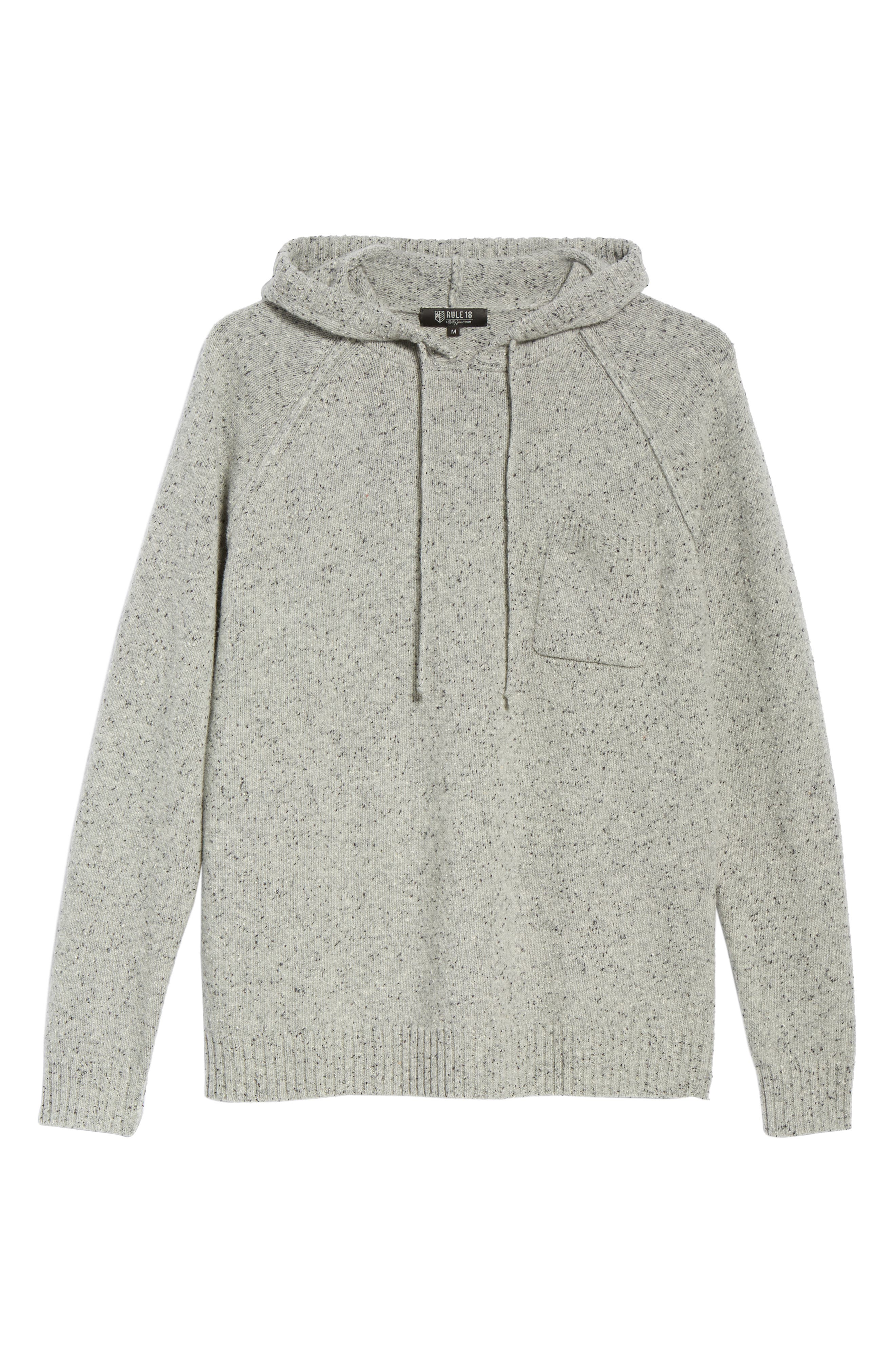 Rule 18 Donegal Regular Fit Hooded Sweater,                             Alternate thumbnail 6, color,                             GREY