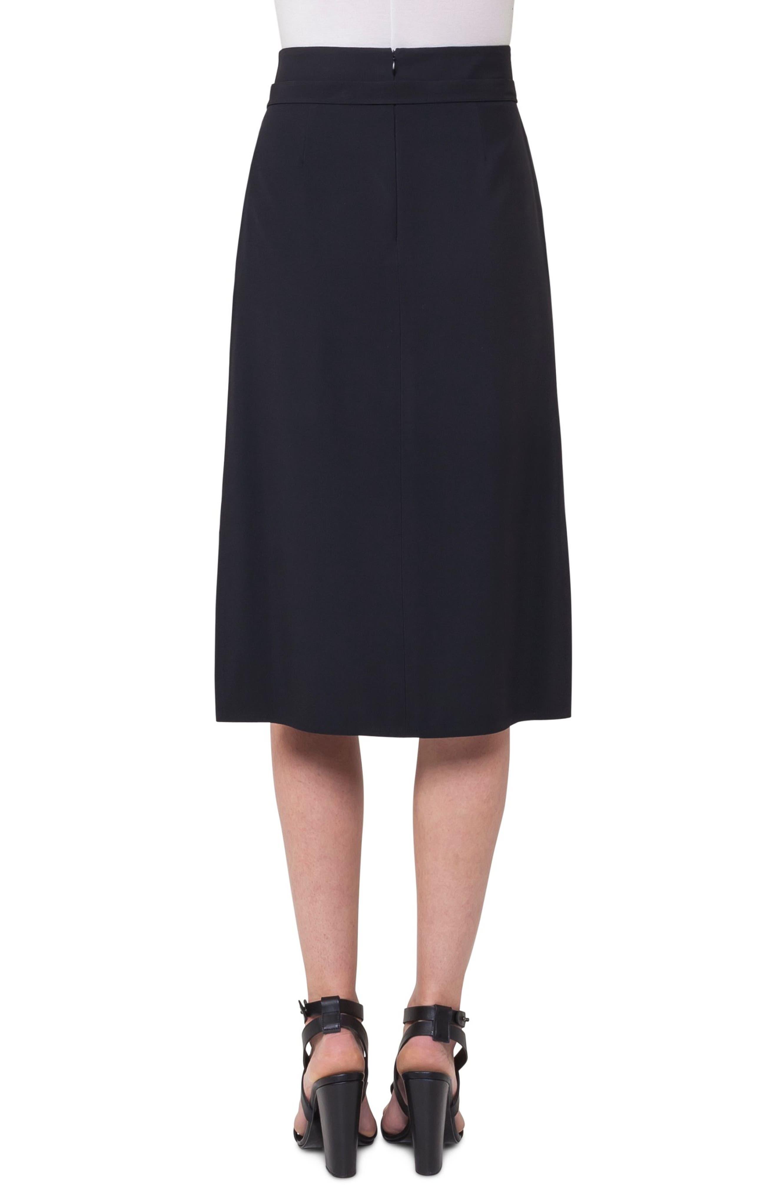 Side Zip Strap Skirt,                             Alternate thumbnail 2, color,                             009