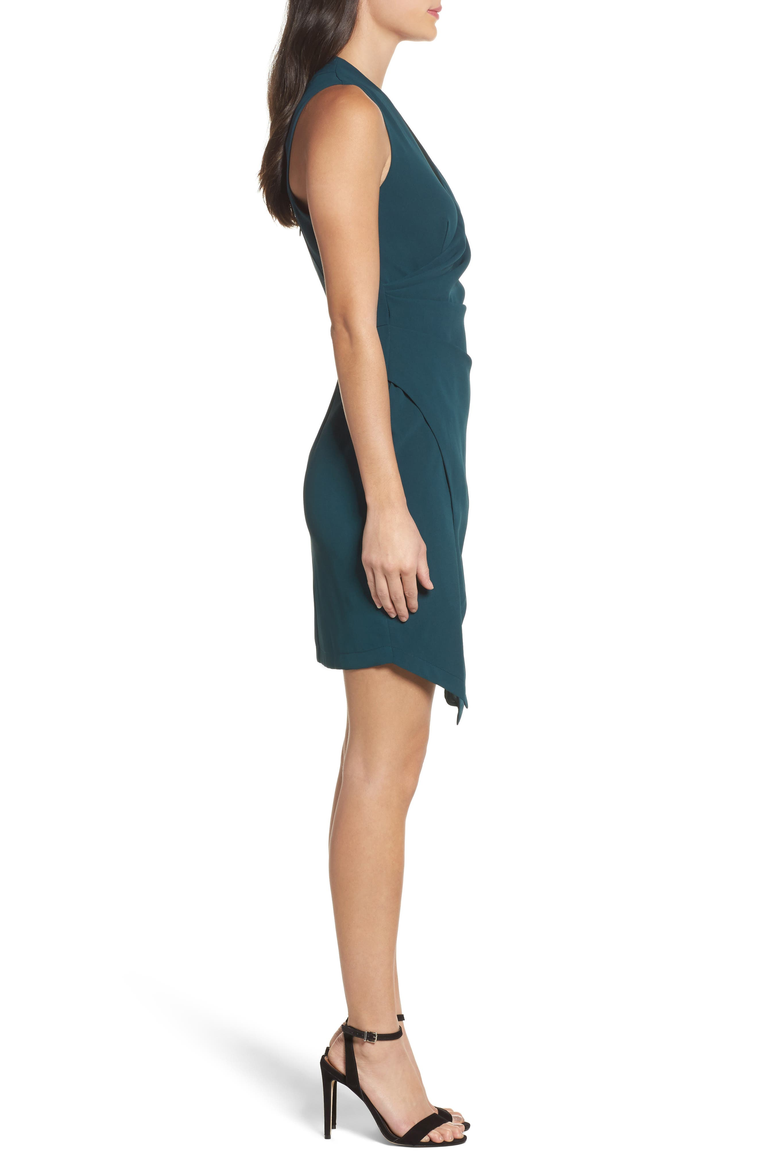 Teri Faux Wrap Sheath Dress,                             Alternate thumbnail 3, color,                             401