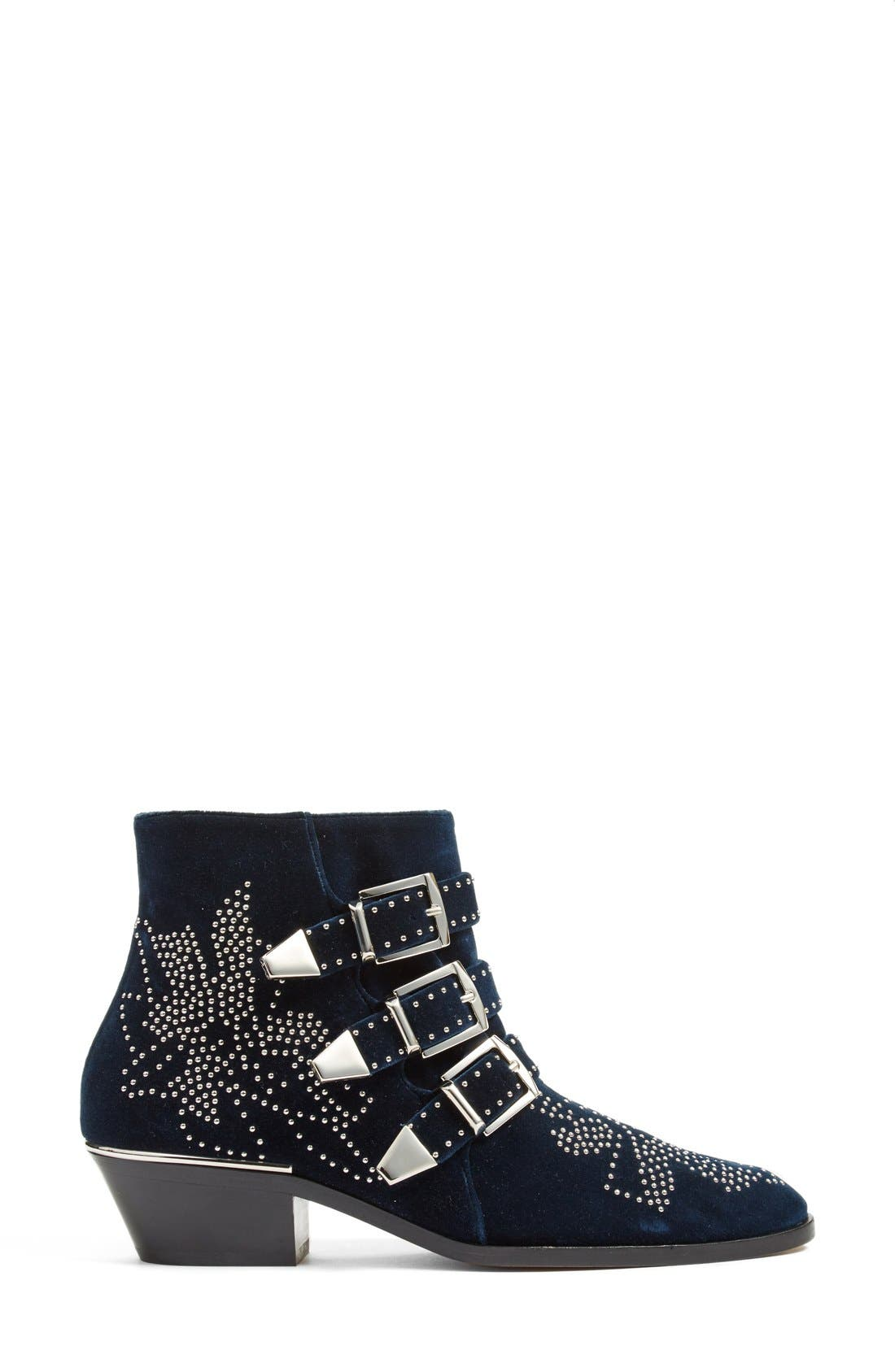 'Susan' Studded Buckle Boot,                             Alternate thumbnail 3, color,                             400