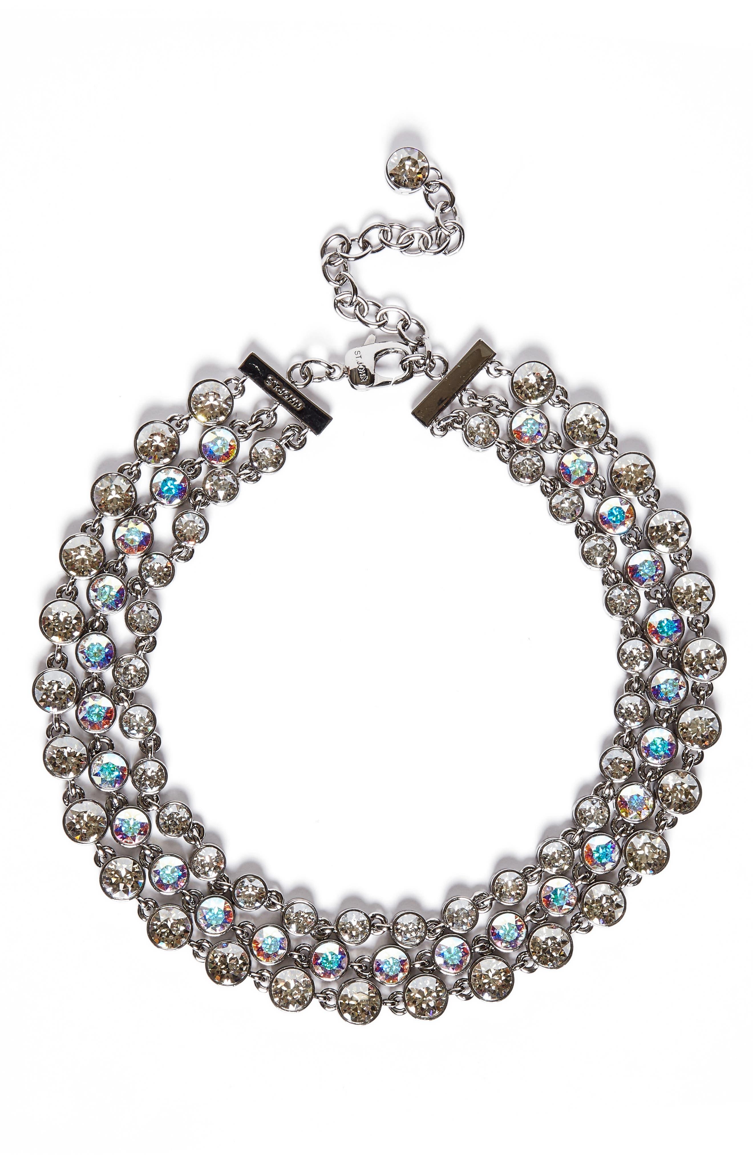 Swarovski Crystal Collar Necklace,                             Main thumbnail 1, color,                             040