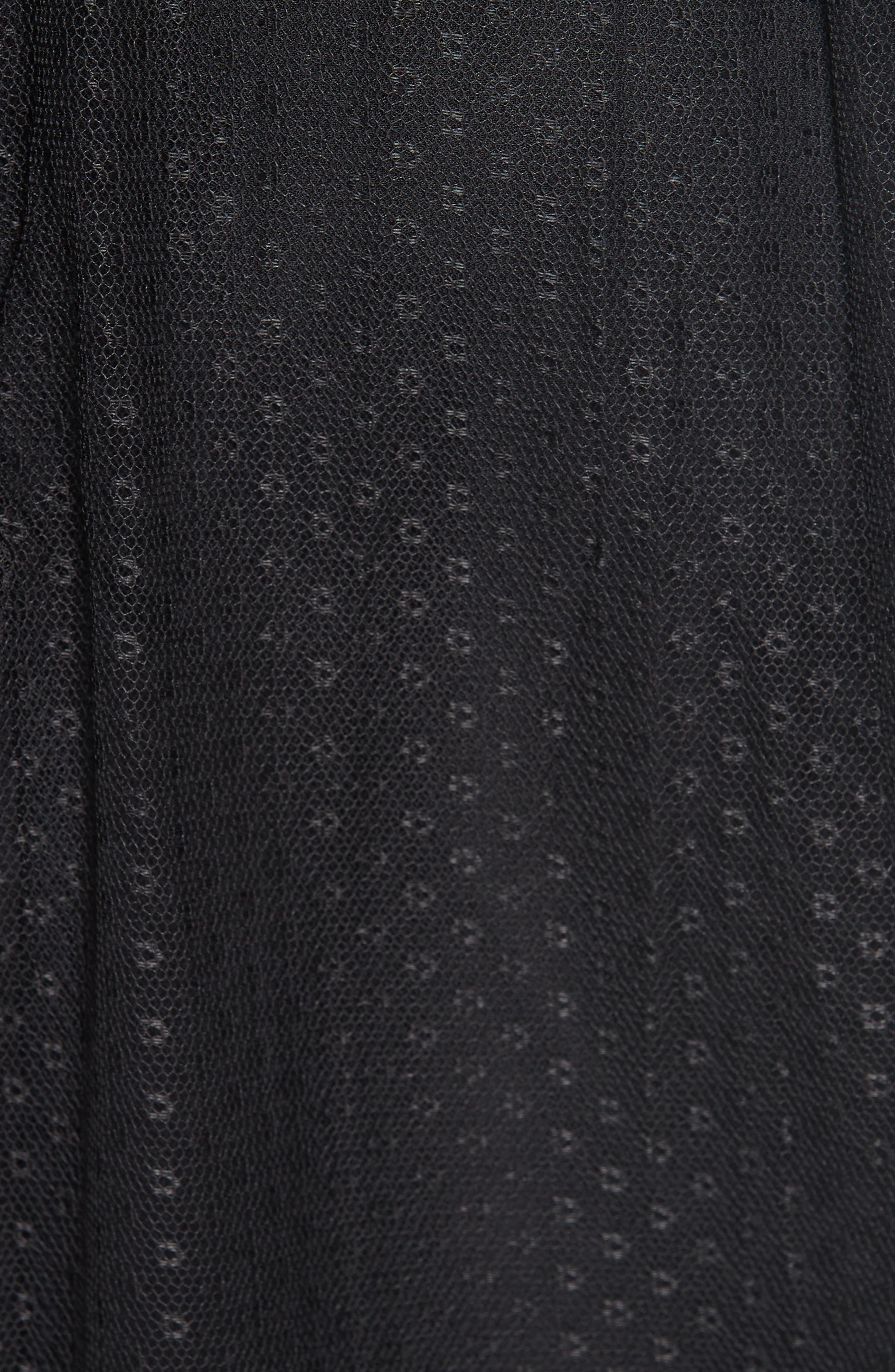 Dotted Tulle Skirt,                             Alternate thumbnail 5, color,                             001