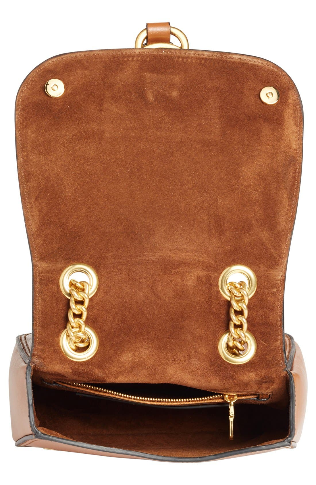 'Dahlia' Goatskin Leather Saddle Bag,                             Alternate thumbnail 8, color,