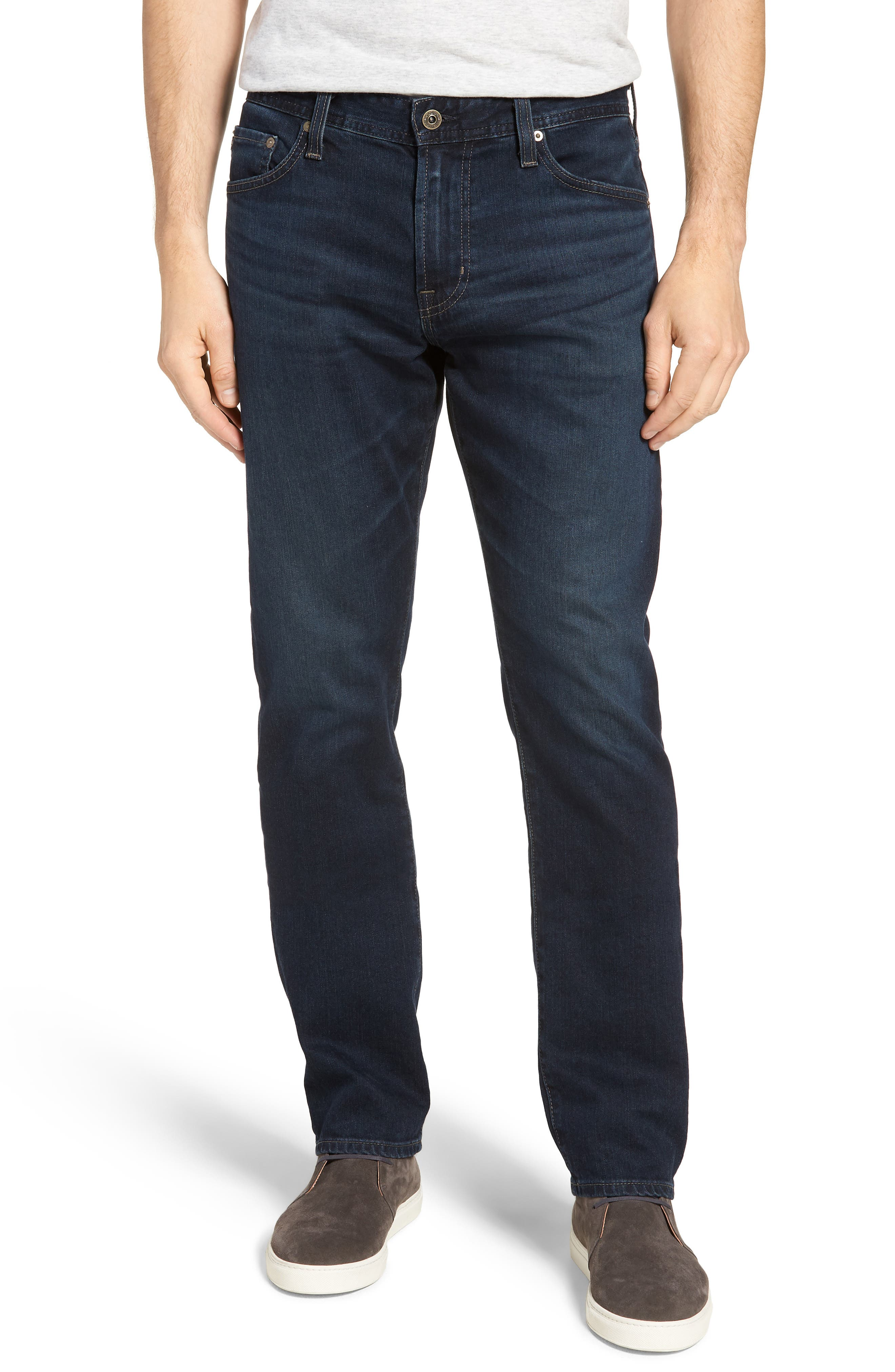 Everett Slim Straight Fit Jeans,                         Main,                         color, SHADOW MOUNTAIN