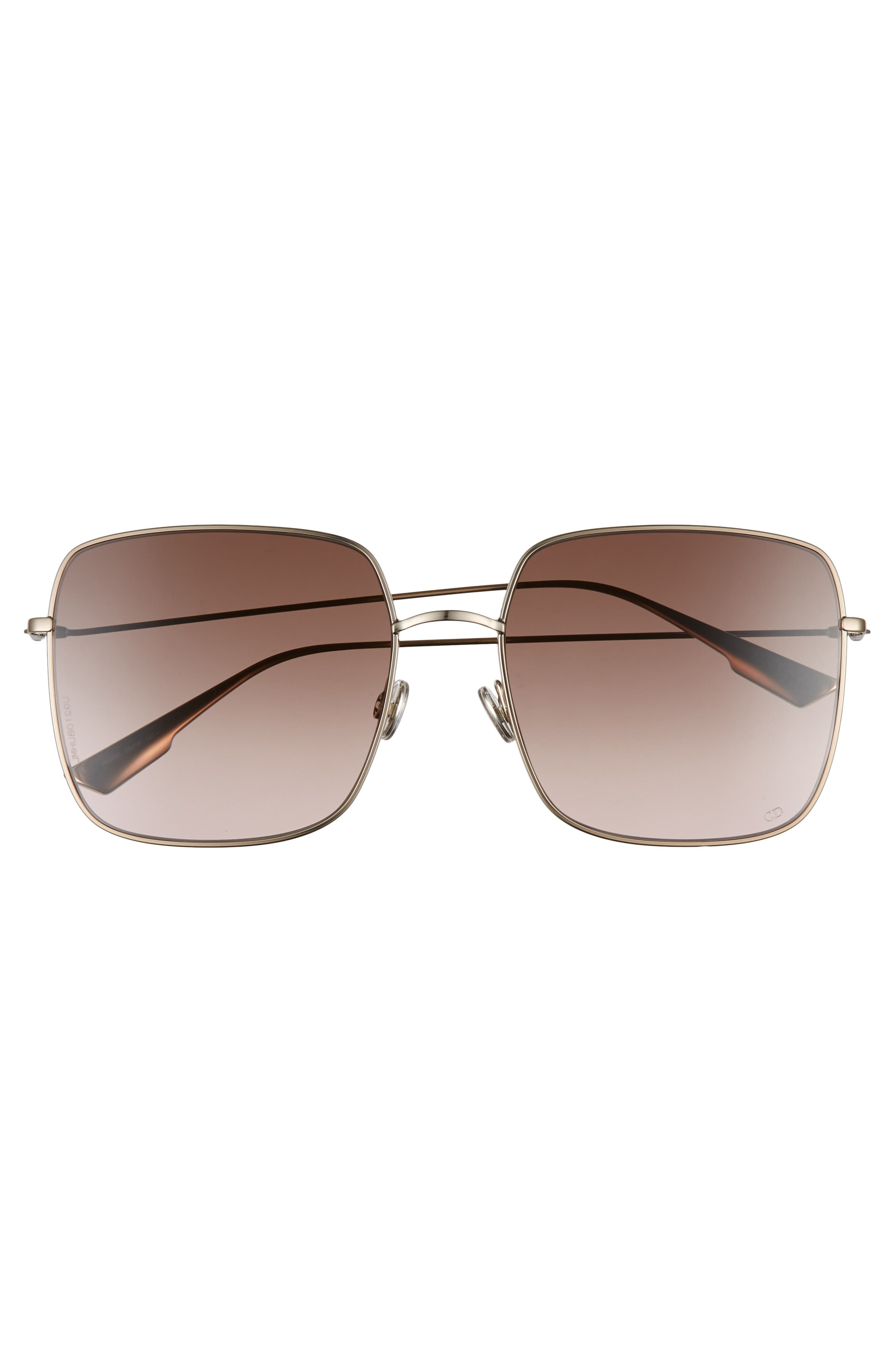 Stellaire 59mm Square Sunglasses,                             Alternate thumbnail 3, color,                             CHAMPAGNE