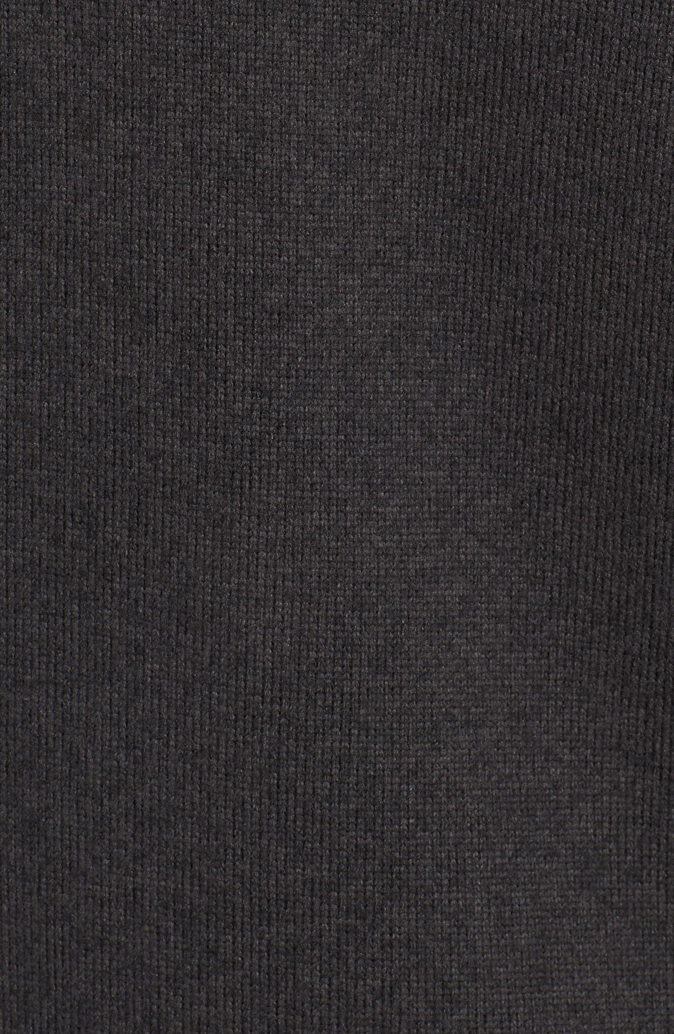 Gordon Lyons Quarter-Zip Fleece Jacket,                             Alternate thumbnail 6, color,                             BLACK HEATHER