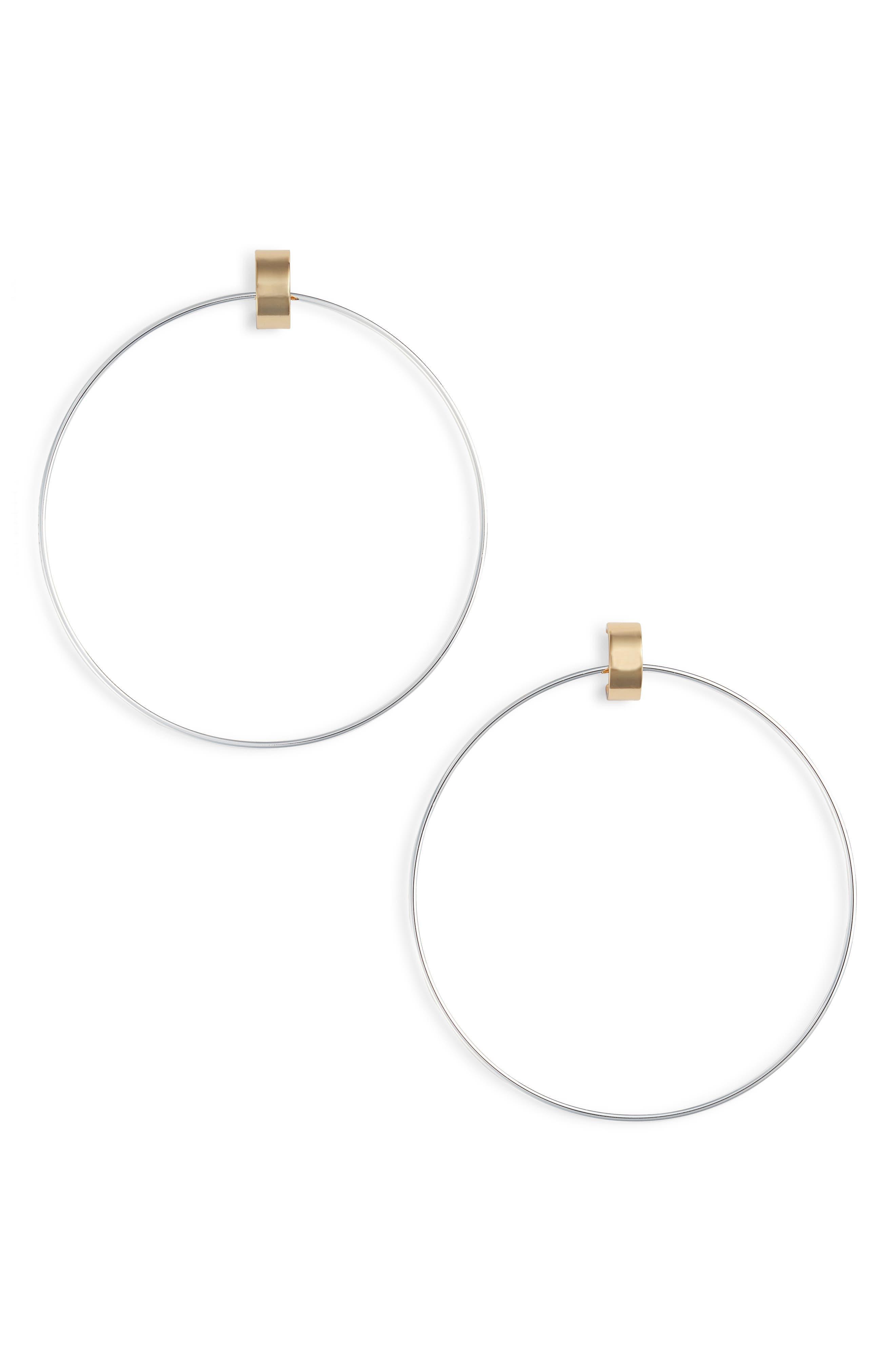 Faye Large Door Knocker Earrings in Two-Tone