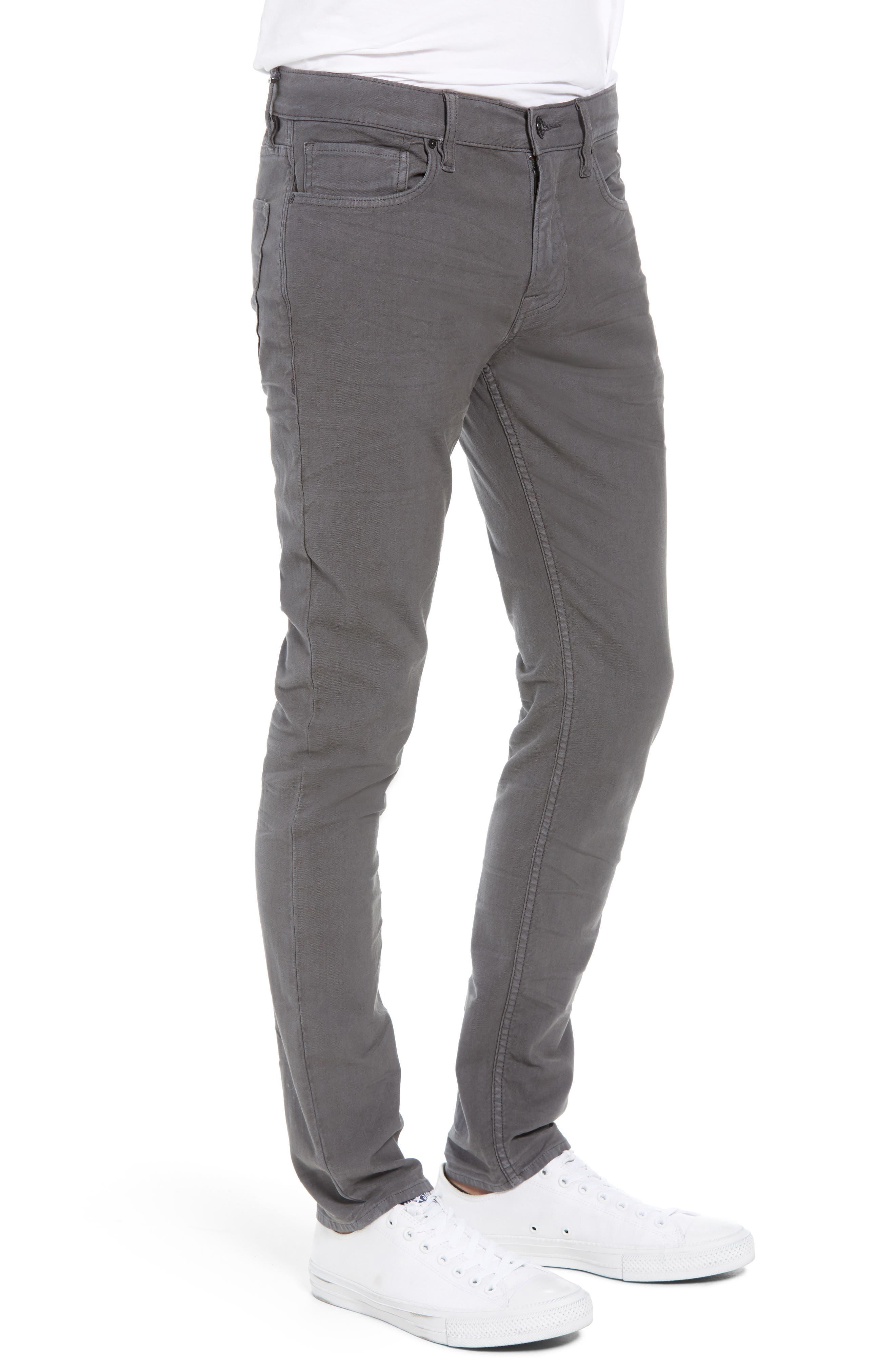 Hudson Axl Skinny Fit Jeans,                             Alternate thumbnail 3, color,                             GRAPHITE