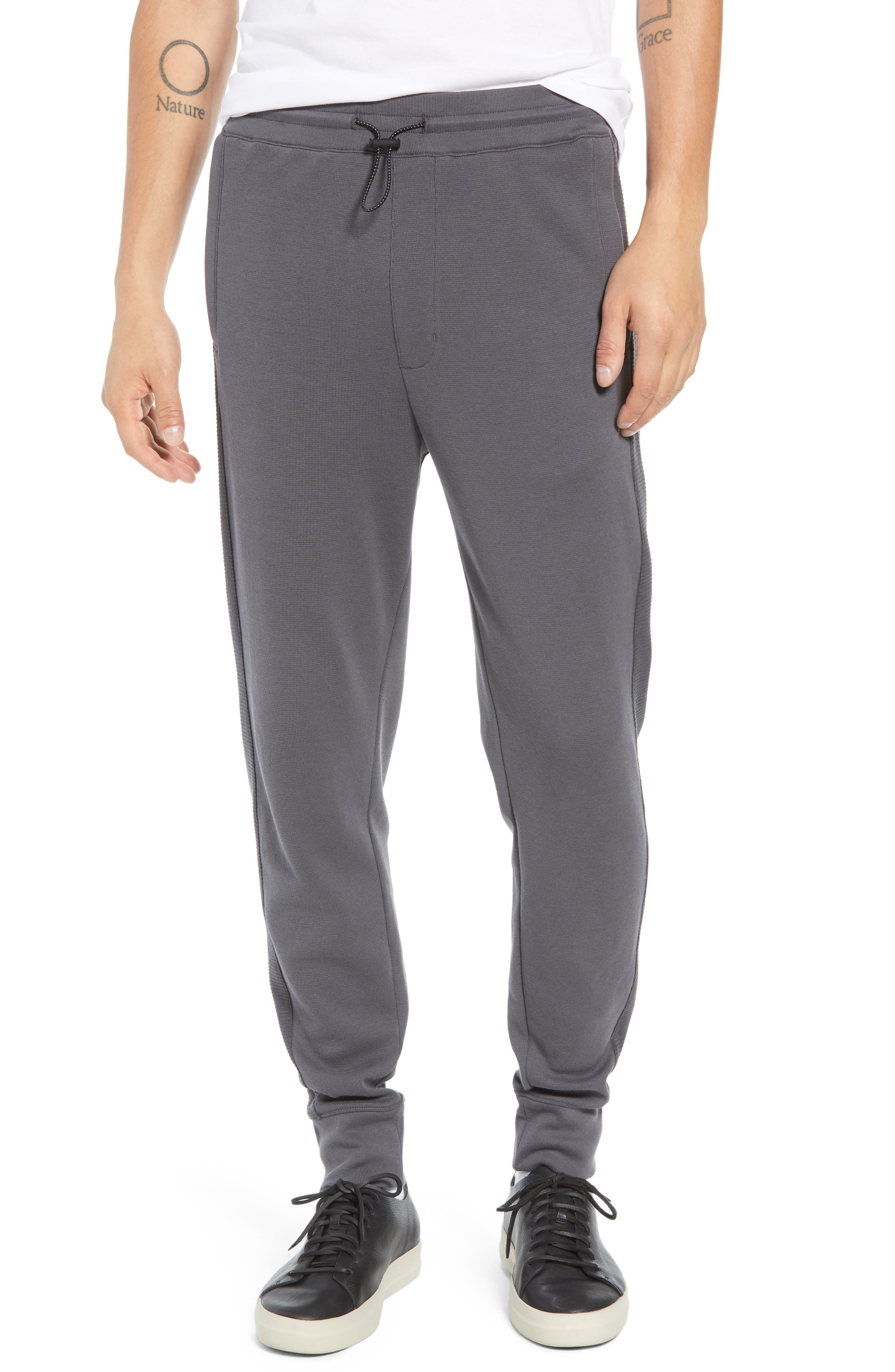 Ottoman Stitch Sweatpants,                             Main thumbnail 1, color,                             SLATE