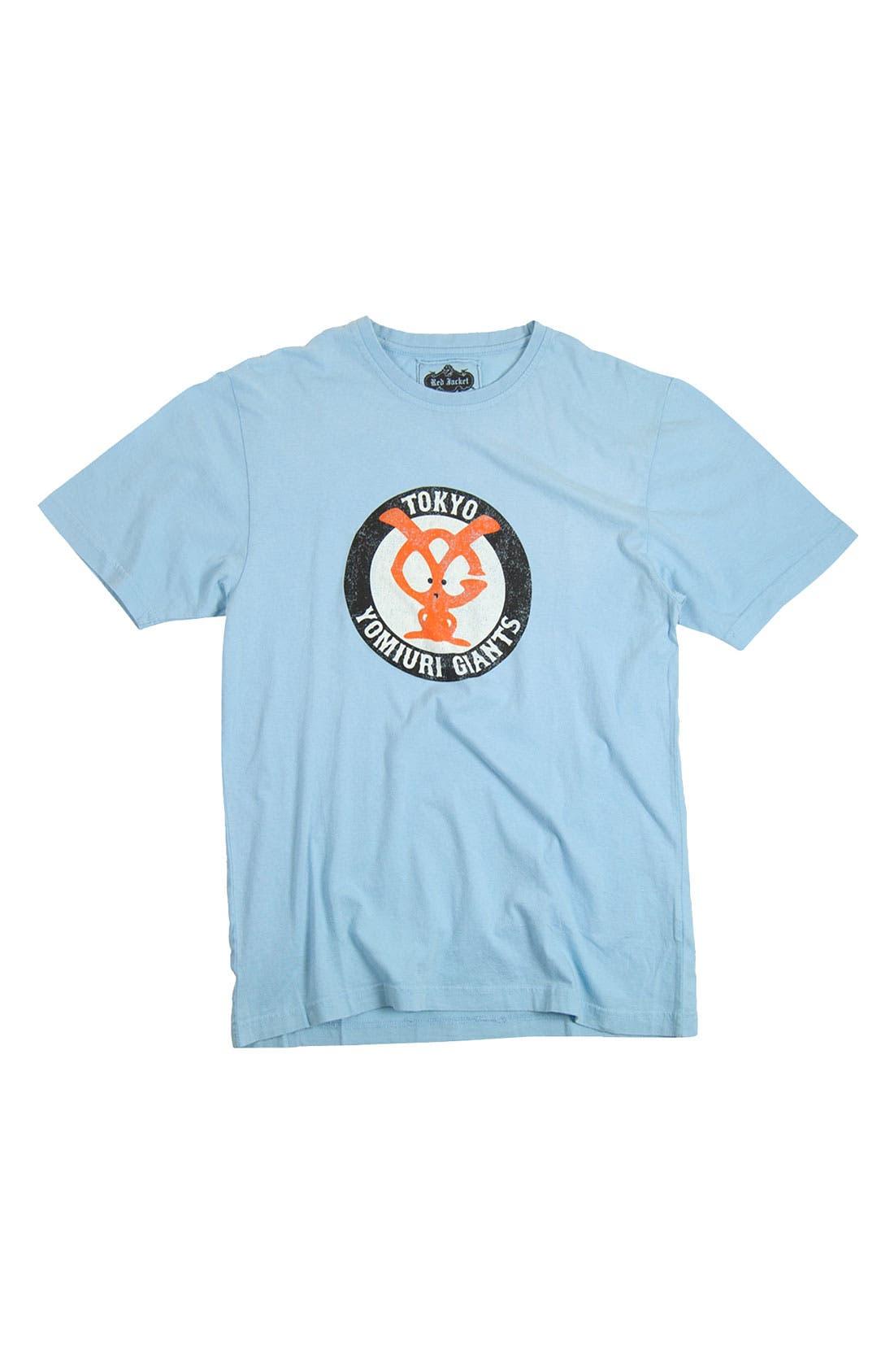 'Tokyo Yomiuri Giants' Trim Fit T-Shirt,                             Alternate thumbnail 4, color,                             458