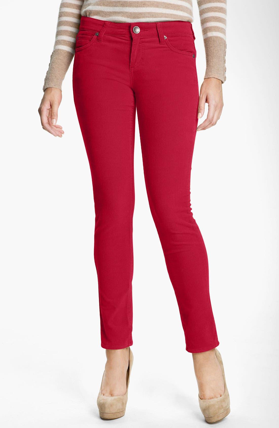 'Diana' Stretch Corduroy Skinny Pants,                             Main thumbnail 42, color,