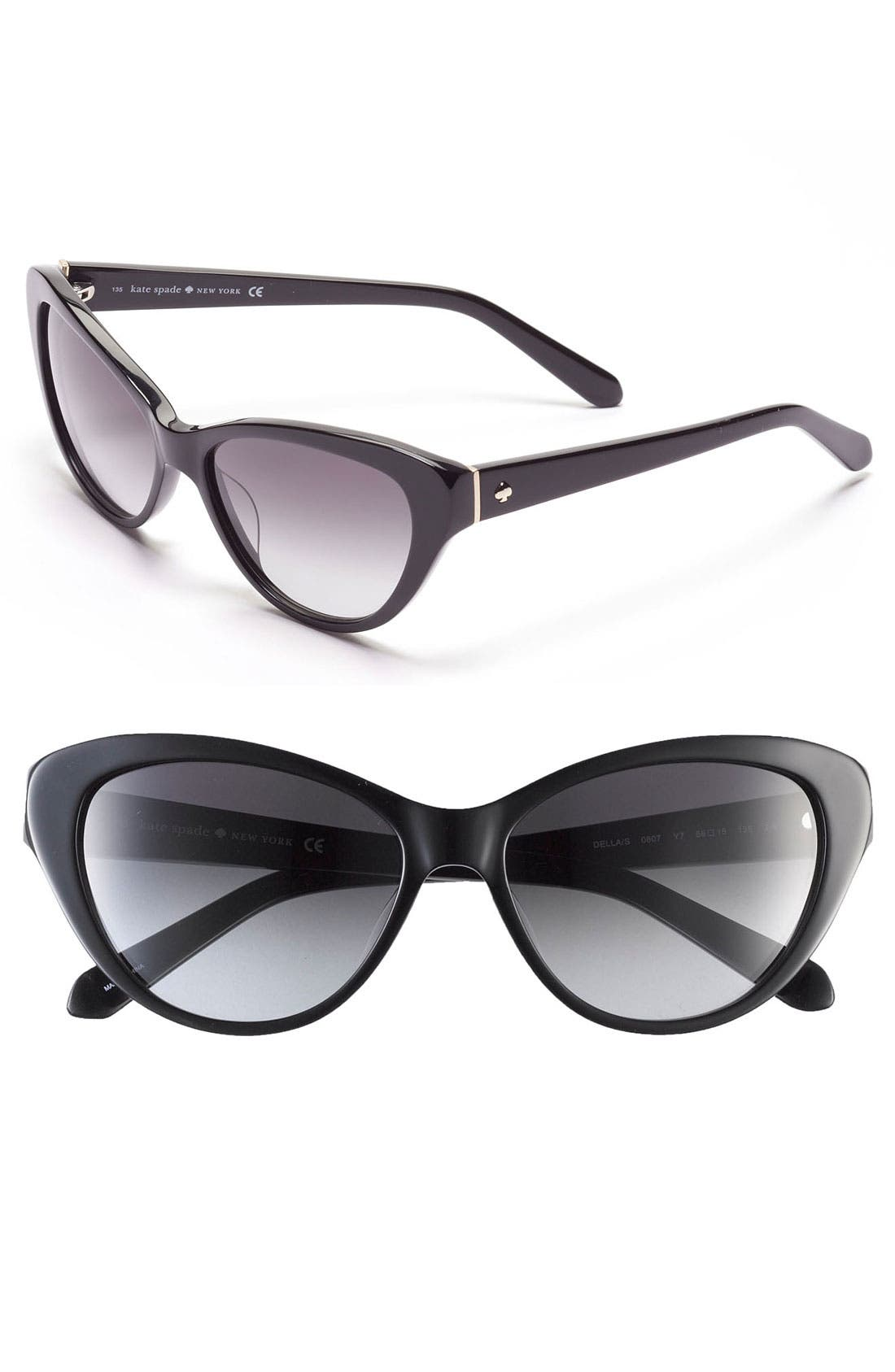 'della' 55mm sunglasses,                         Main,                         color, 001