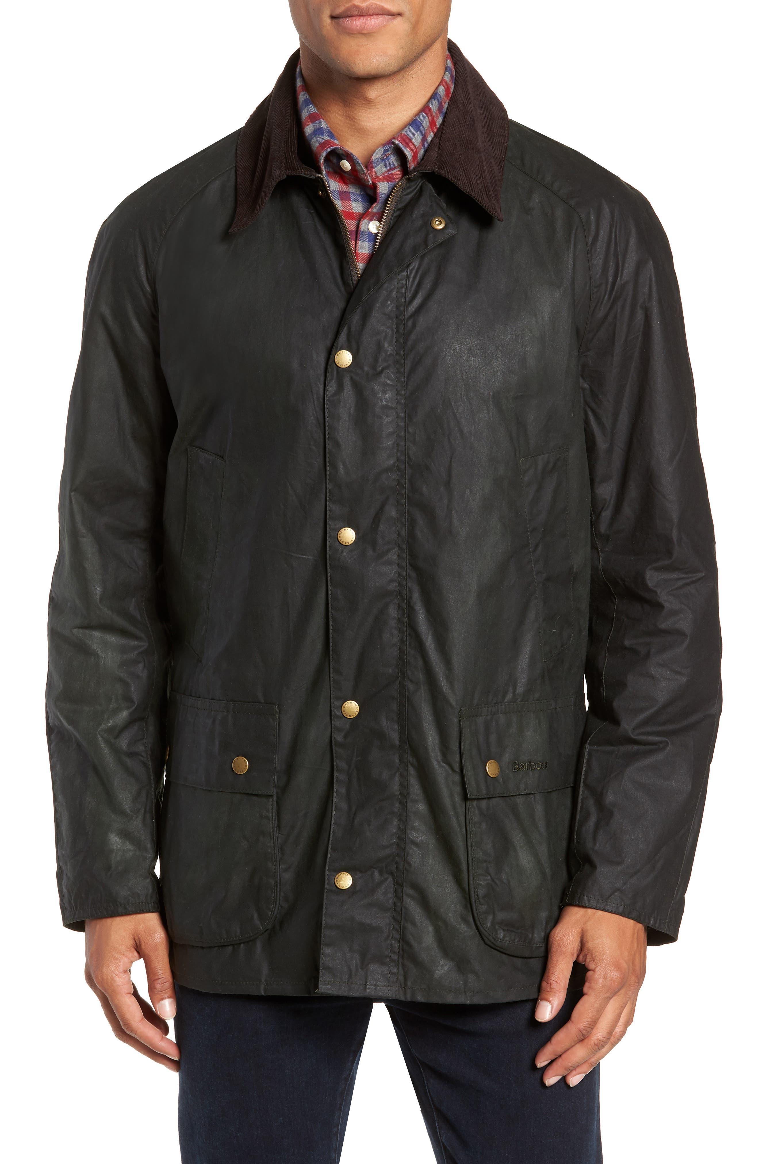 Lightweight Ashby Wax Jacket,                             Alternate thumbnail 4, color,                             SAGE
