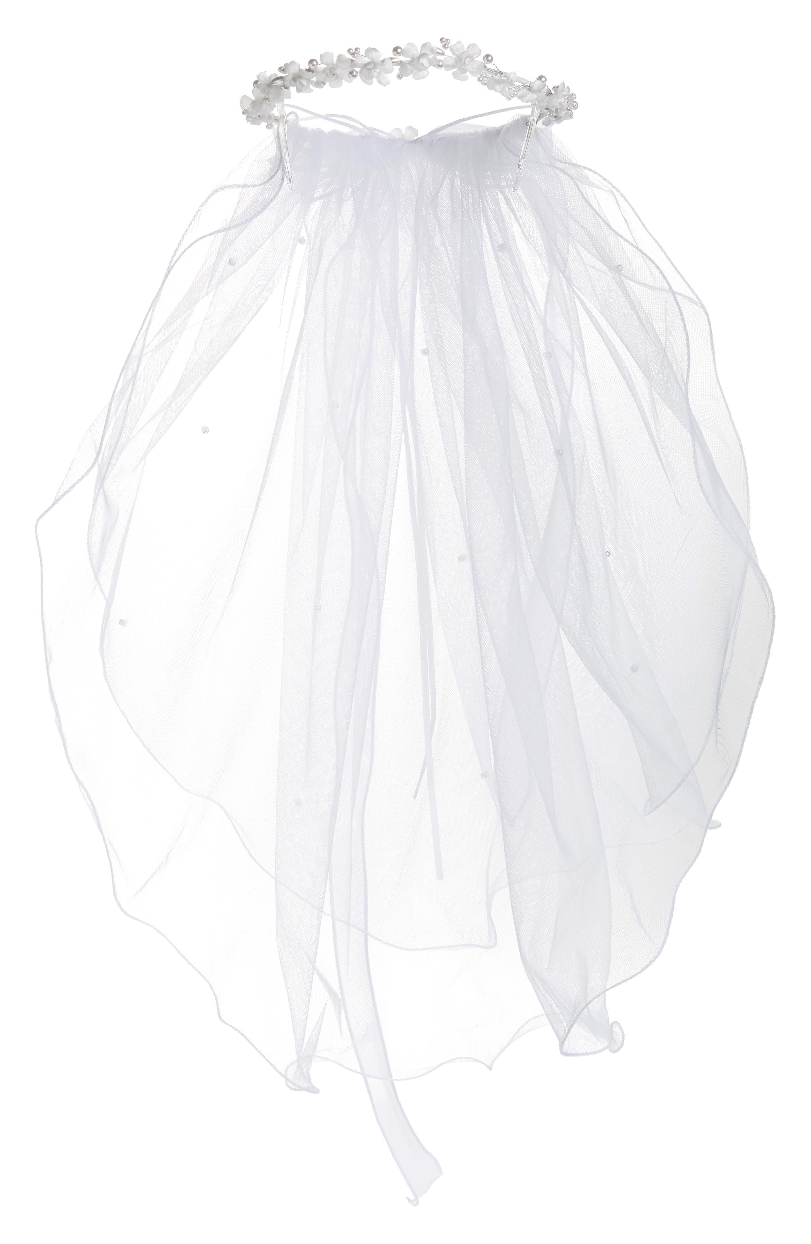 Lauren Marie Flower  Pearl Wreath Veil Size One Size  White