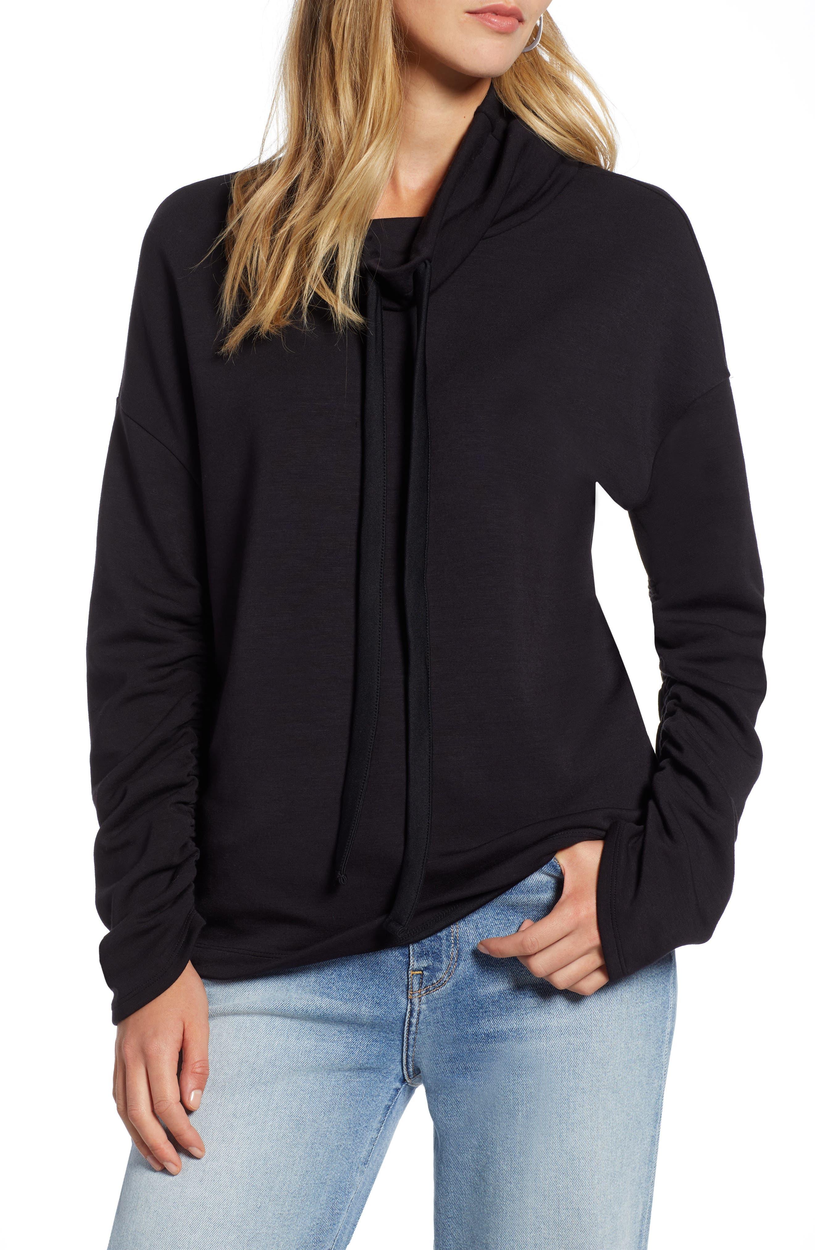 Funnel Neck Sweatshirt,                         Main,                         color, 001