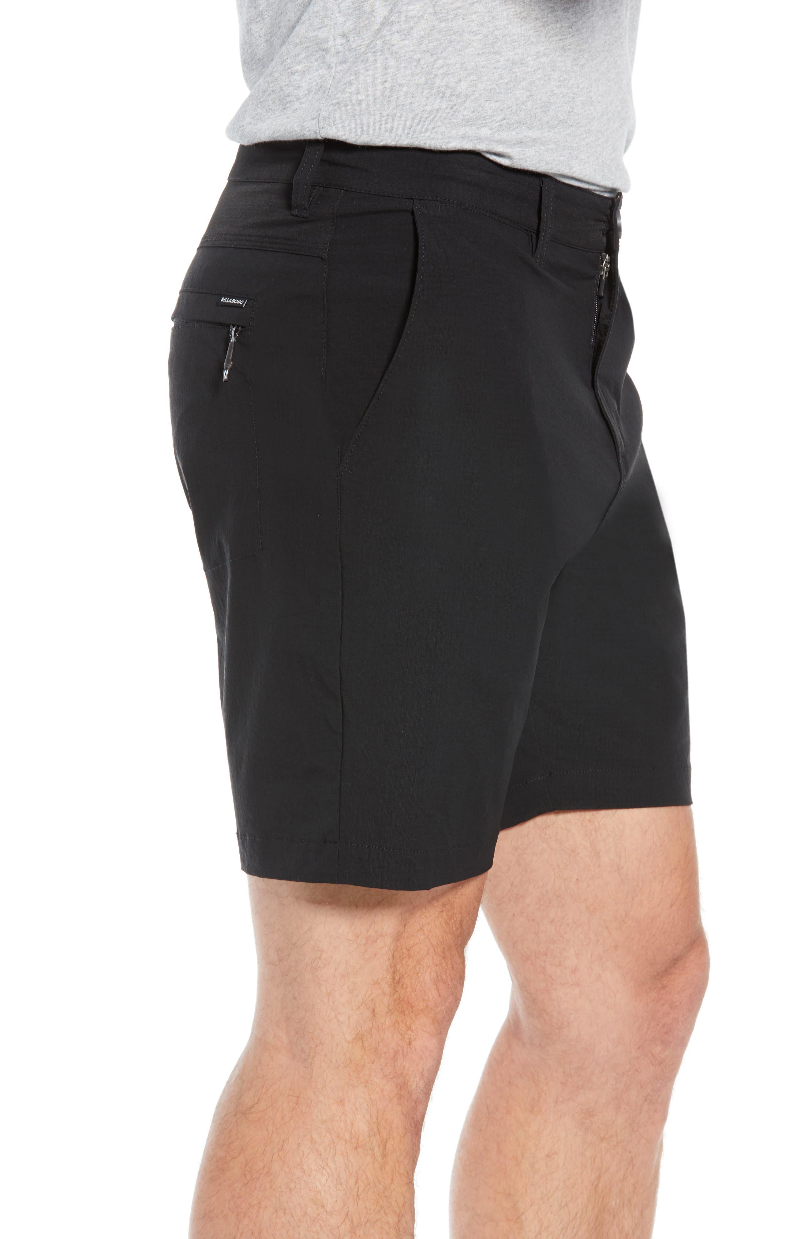 Surfreak Hybrid Shorts,                             Alternate thumbnail 3, color,                             BLACK