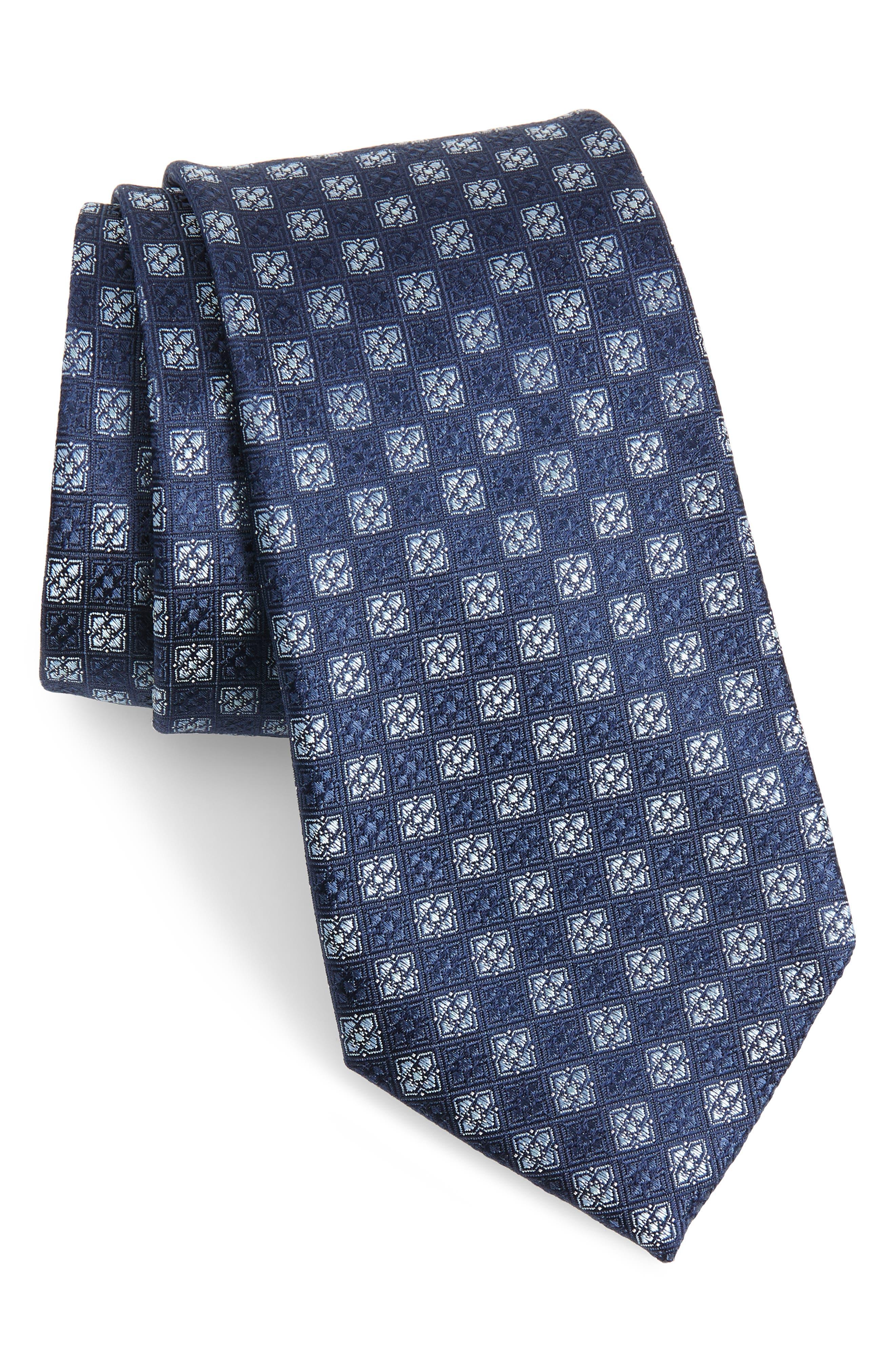 Kaye Medallion Silk Tie,                         Main,                         color, 410