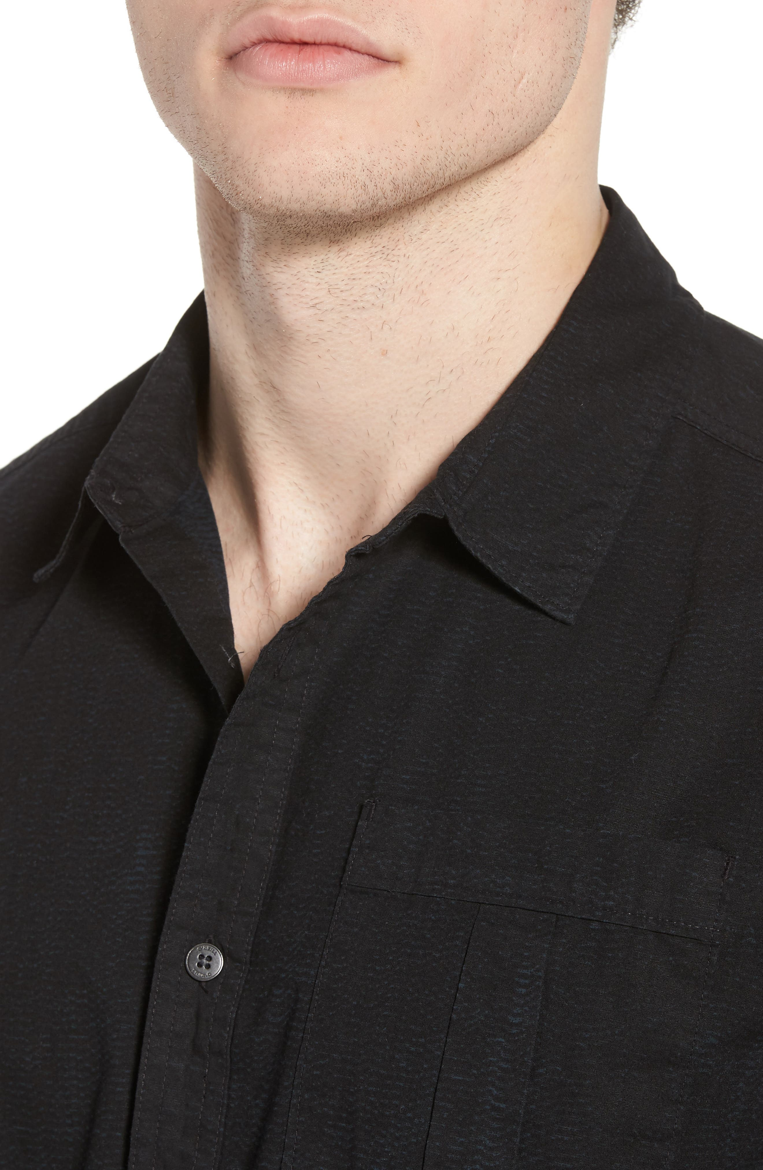 Untitled Woven Shirt,                             Alternate thumbnail 4, color,                             001
